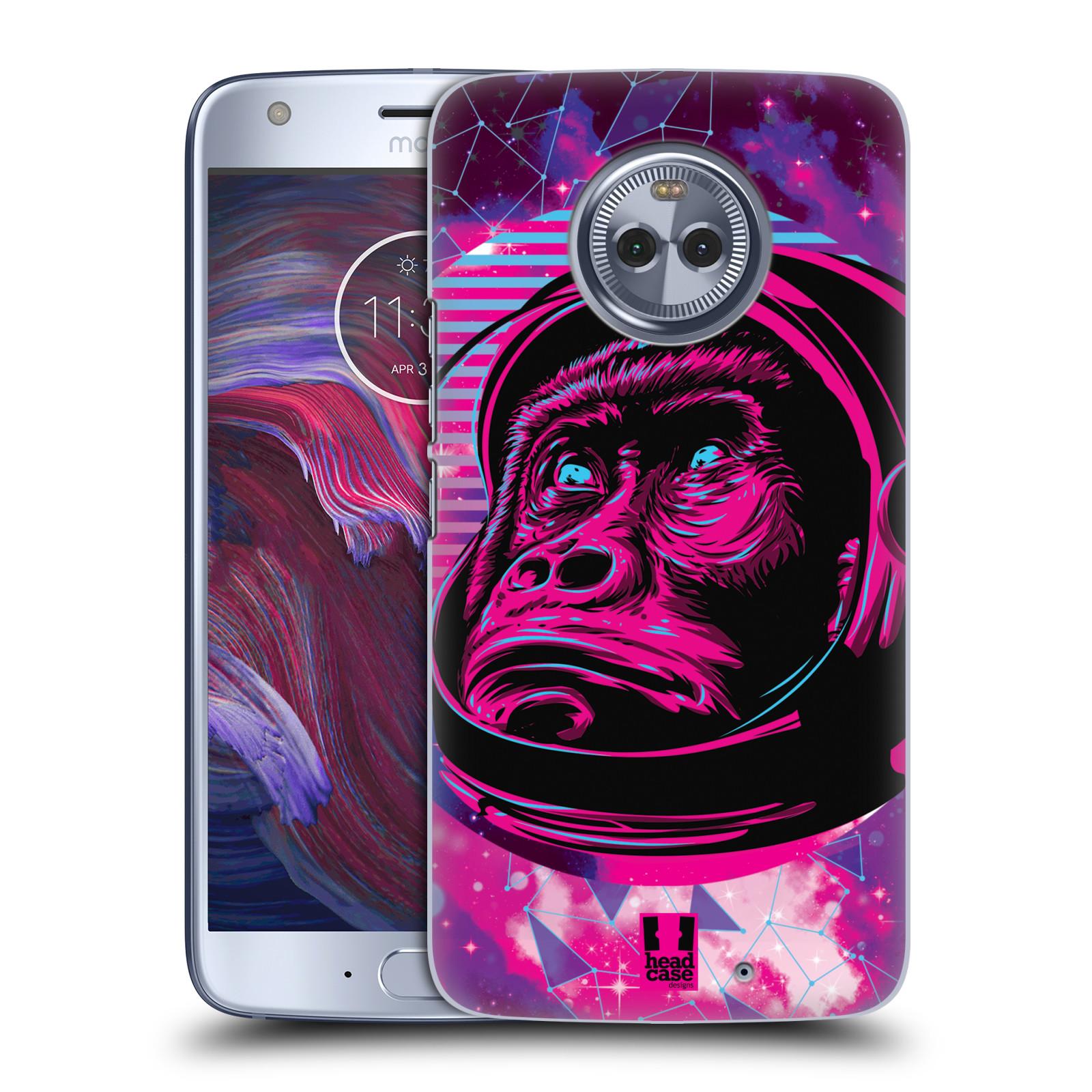 Plastové pouzdro na mobil Lenovo Moto X4 - Head Case - Gorila ve skafandru
