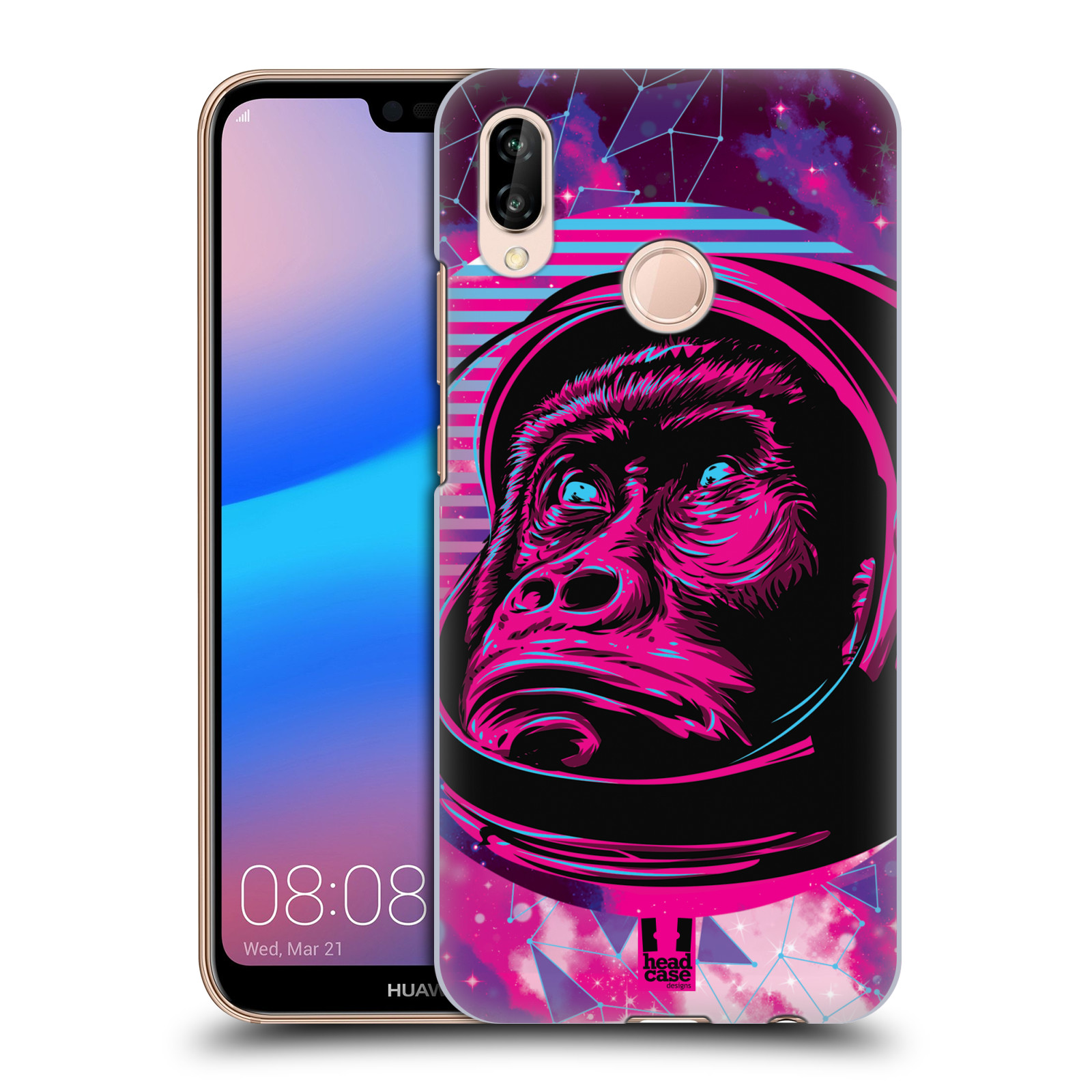 Plastové pouzdro na mobil Huawei P20 Lite - Head Case - Gorila ve skafandru