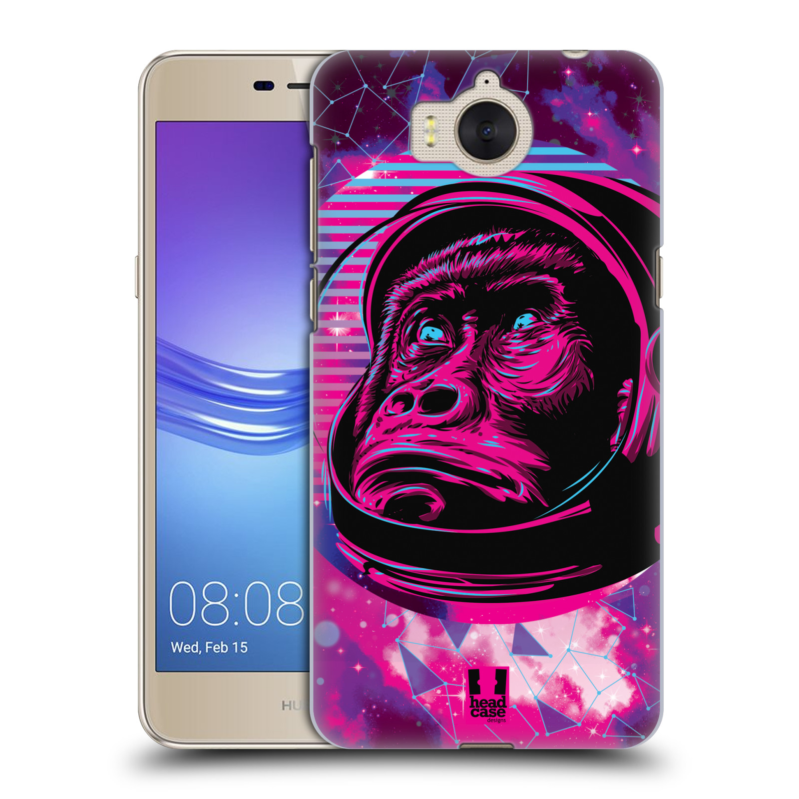Plastové pouzdro na mobil Huawei Y6 2017 - Head Case - Gorila ve skafandru