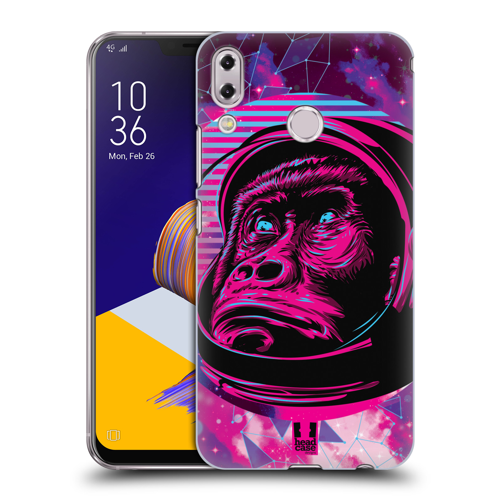 Plastové pouzdro na mobil Asus Zenfone 5z ZS620KL - Head Case - Gorila ve skafandru