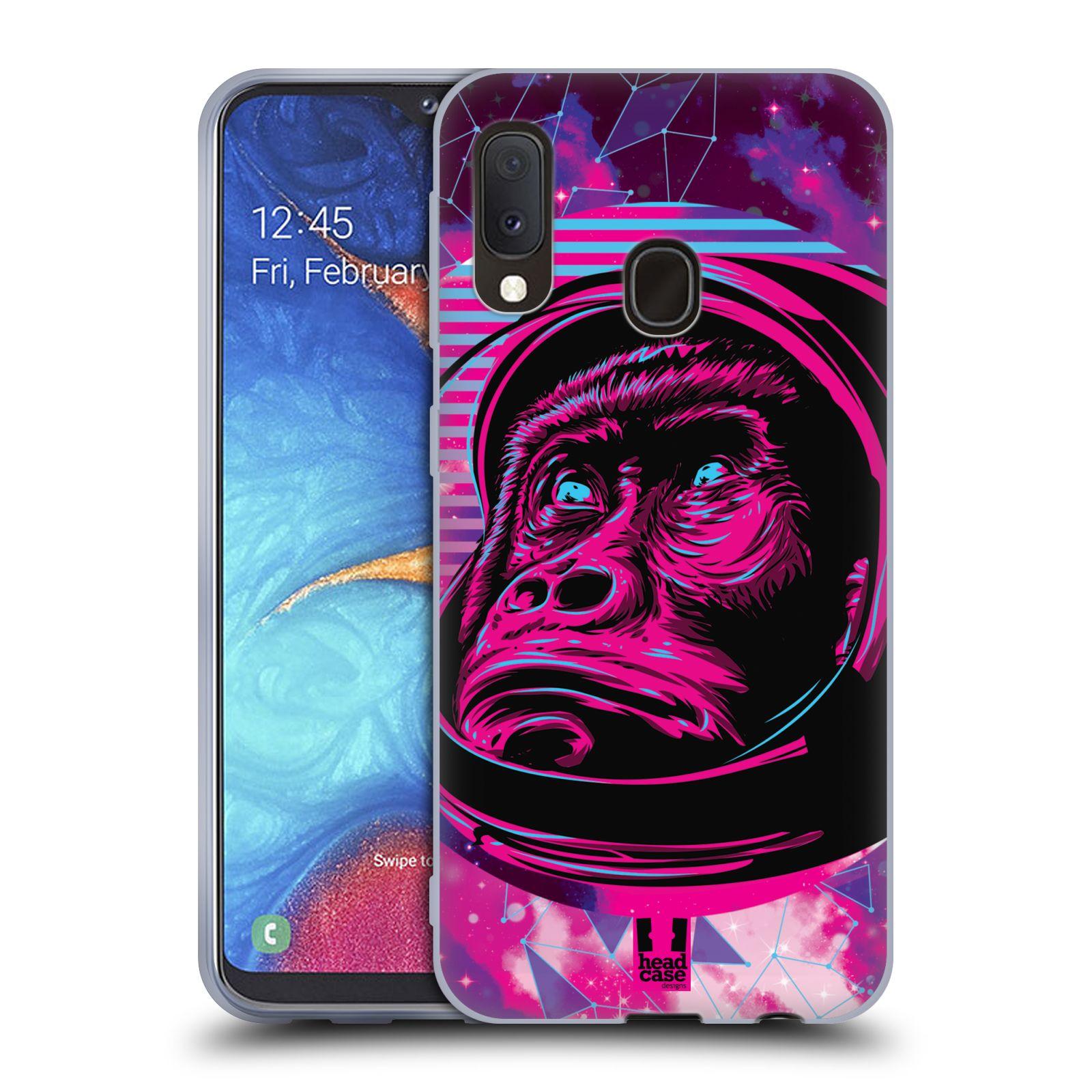 Silikonové pouzdro na mobil Samsung Galaxy A20e - Head Case - Gorila ve skafandru