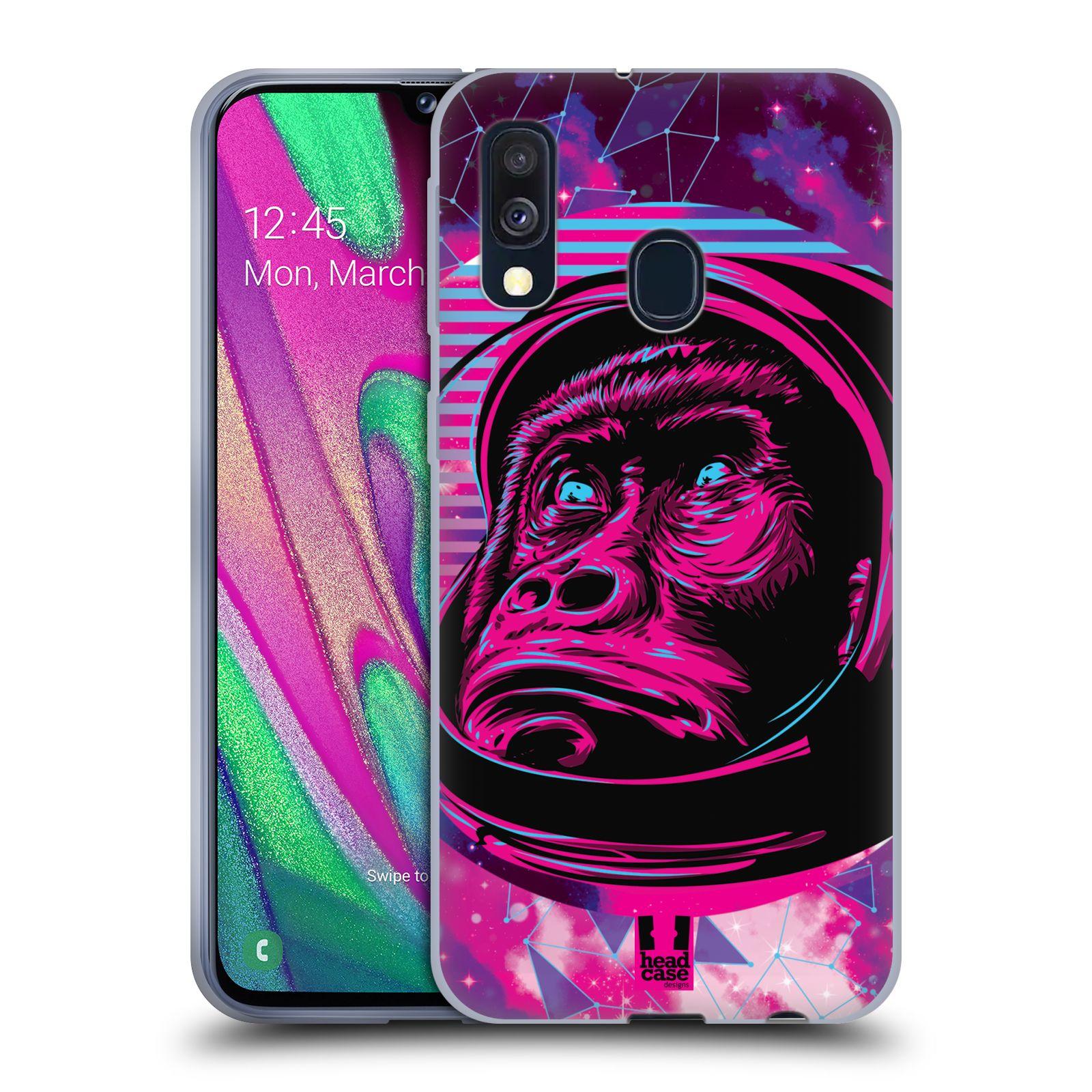 Silikonové pouzdro na mobil Samsung Galaxy A40 - Head Case - Gorila ve skafandru