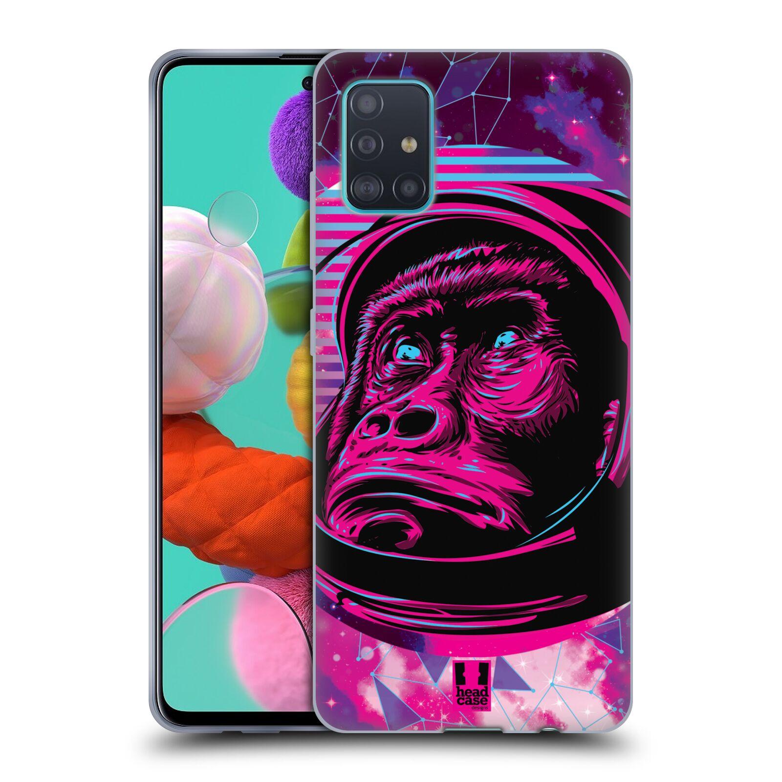 Silikonové pouzdro na mobil Samsung Galaxy A51 - Head Case - Gorila ve skafandru