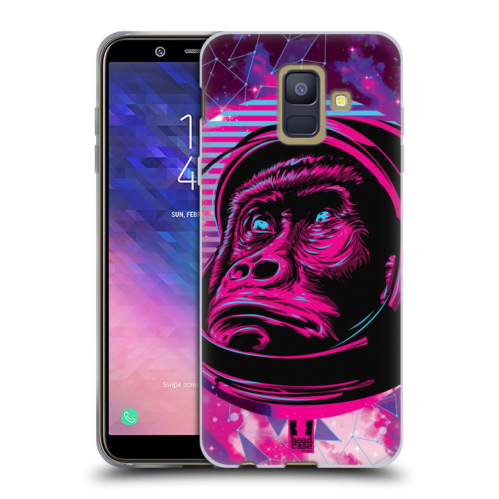 Silikonové pouzdro na mobil Samsung Galaxy A6 (2018) - Head Case - Gorila ve skafandru