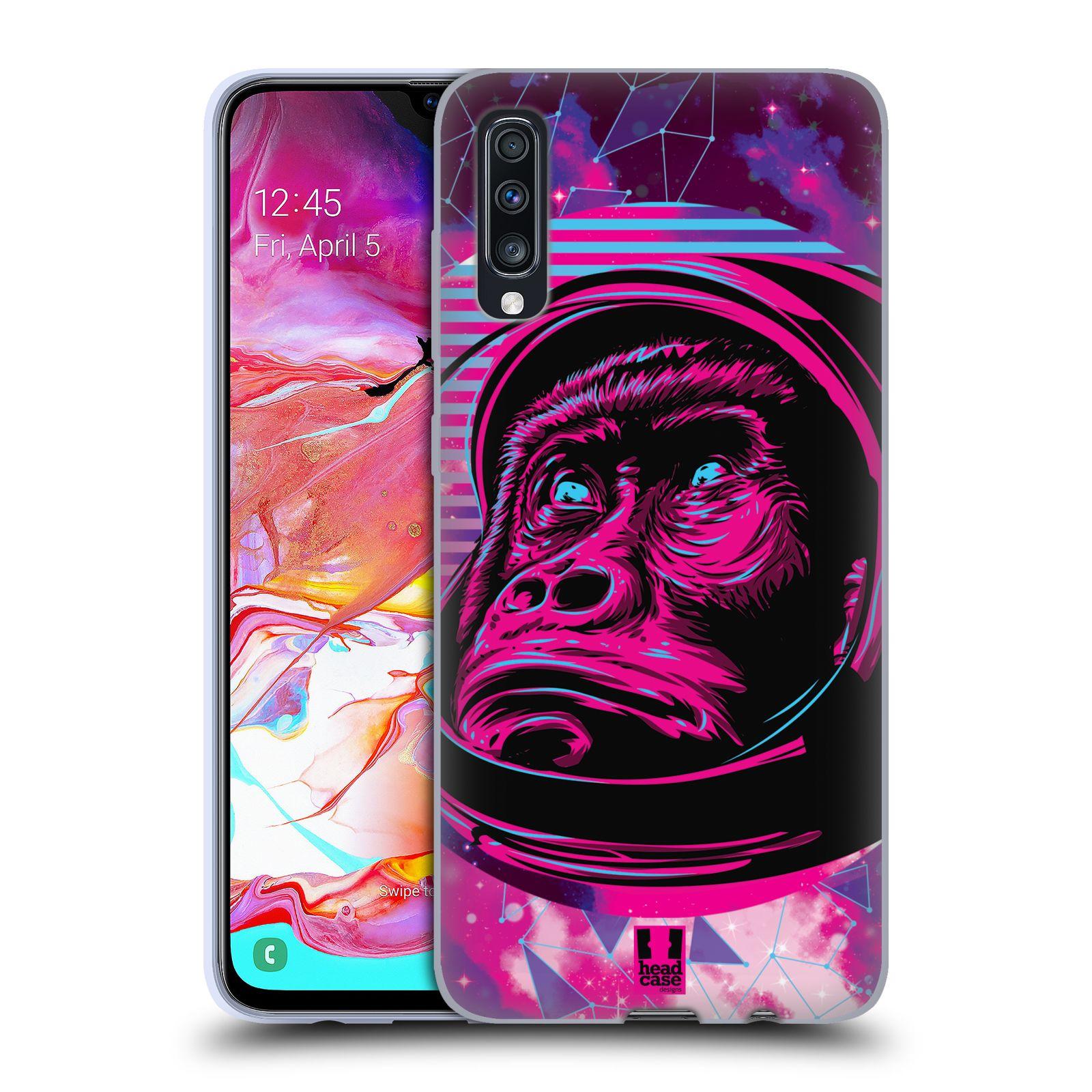 Silikonové pouzdro na mobil Samsung Galaxy A70 - Head Case - Gorila ve skafandru