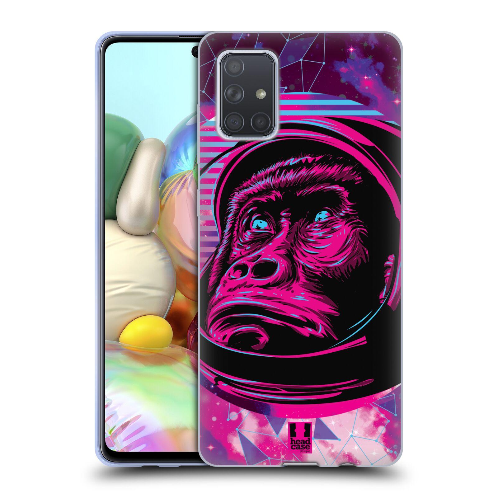 Silikonové pouzdro na mobil Samsung Galaxy A71 - Head Case - Gorila ve skafandru