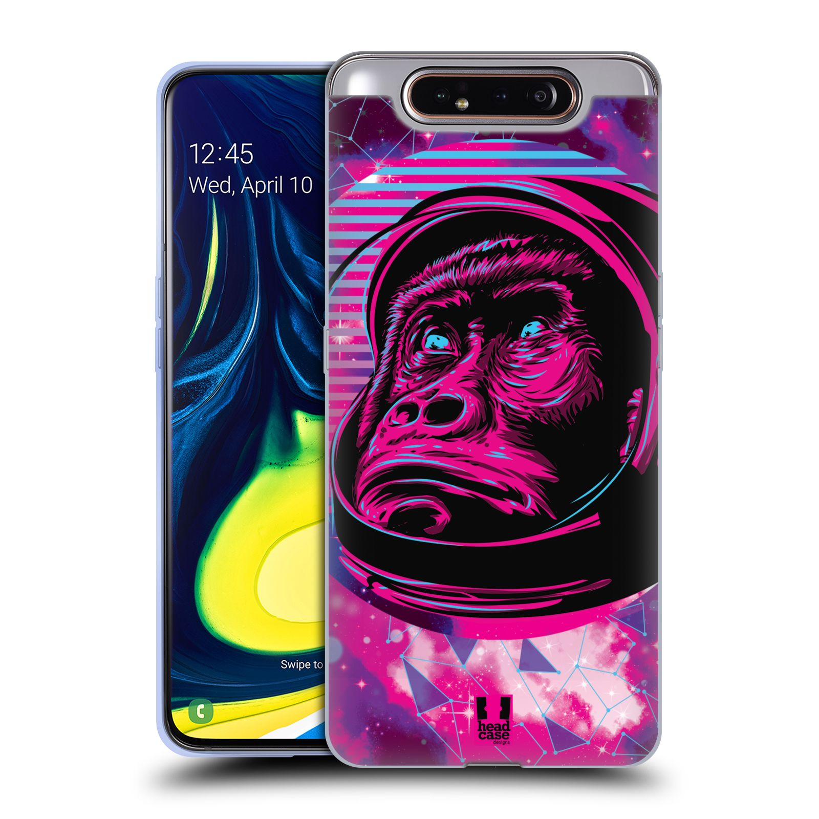 Silikonové pouzdro na mobil Samsung Galaxy A80 - Head Case - Gorila ve skafandru