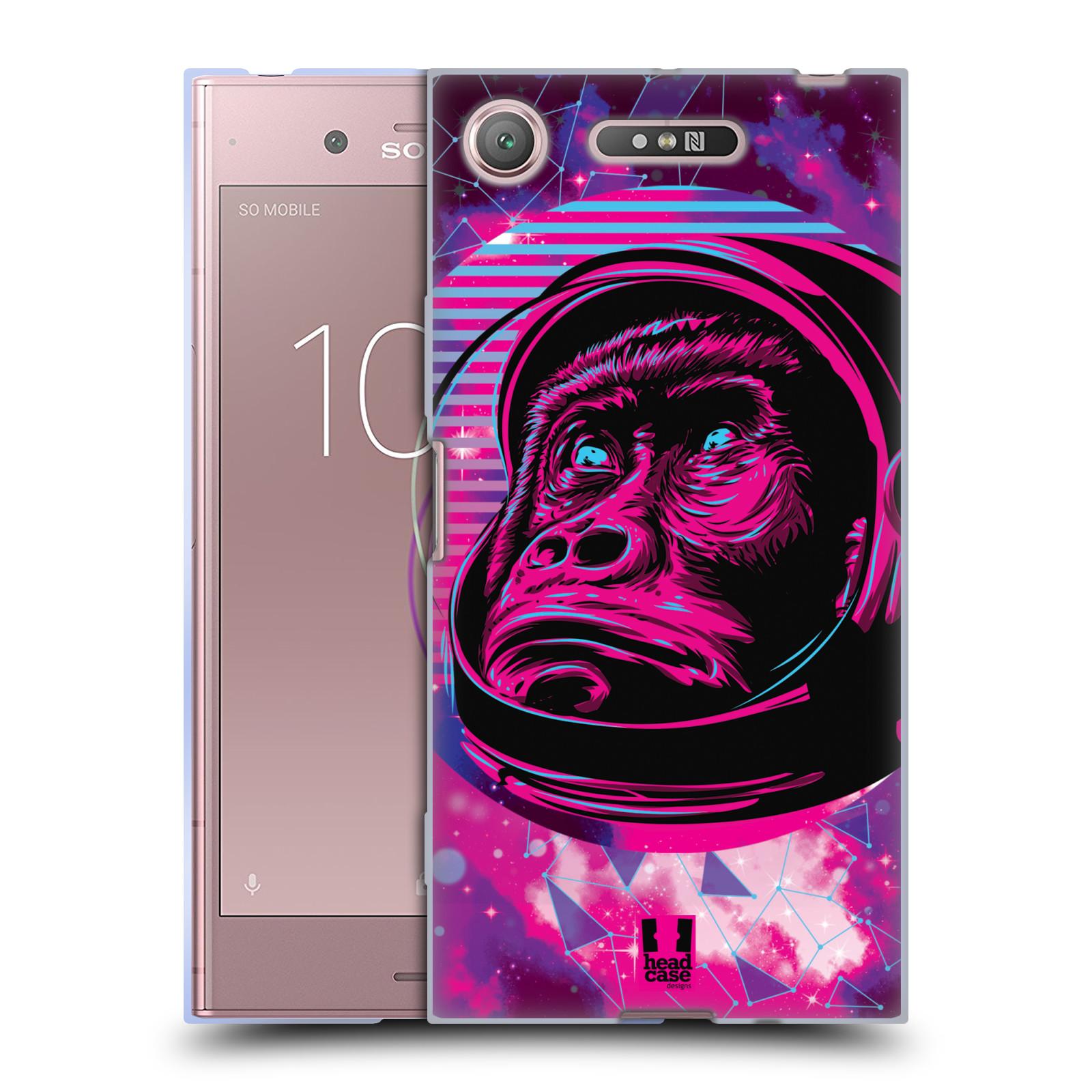 Silikonové pouzdro na mobil Sony Xperia XZ1 - Head Case - Gorila ve skafandru