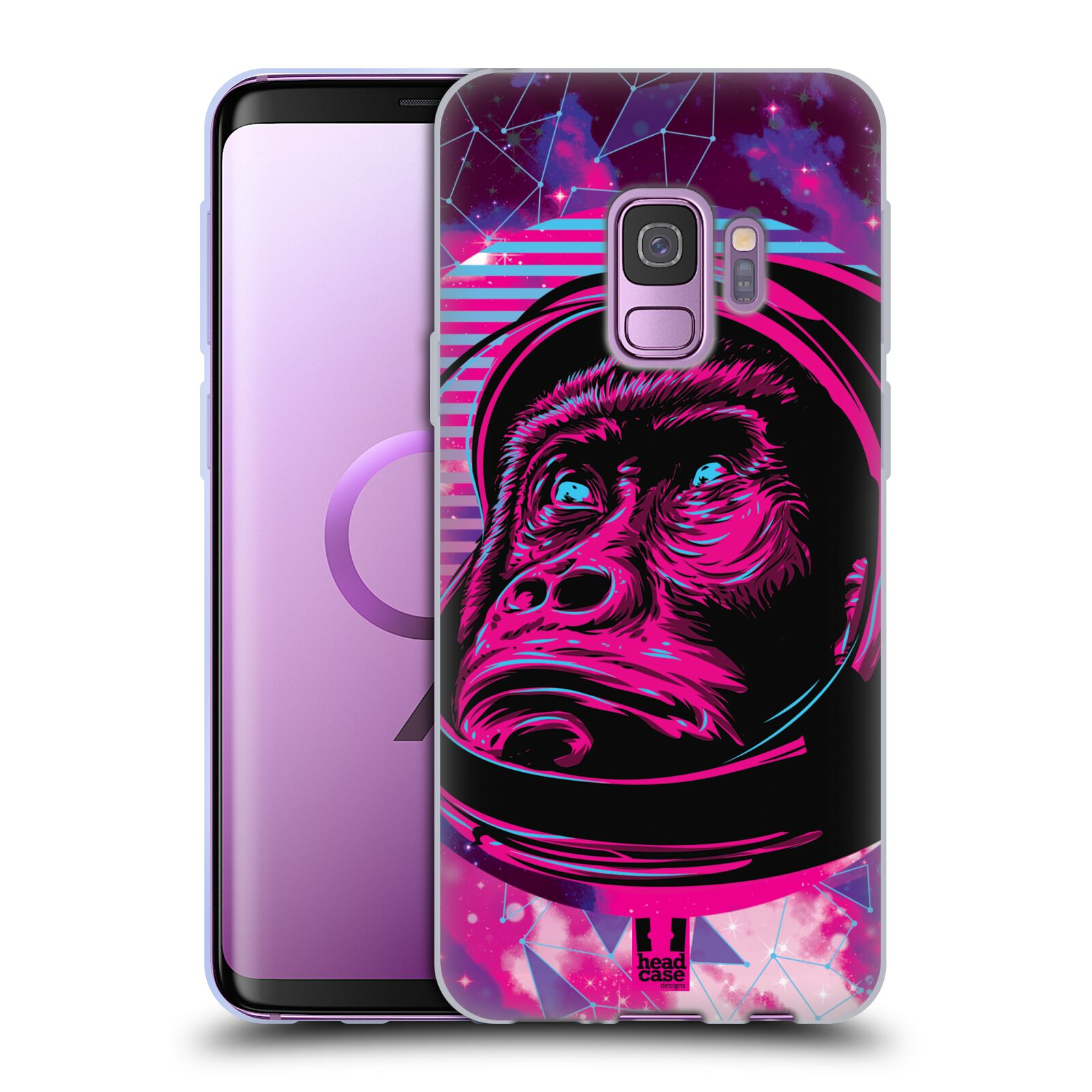 Silikonové pouzdro na mobil Samsung Galaxy S9 - Head Case - Gorila ve skafandru