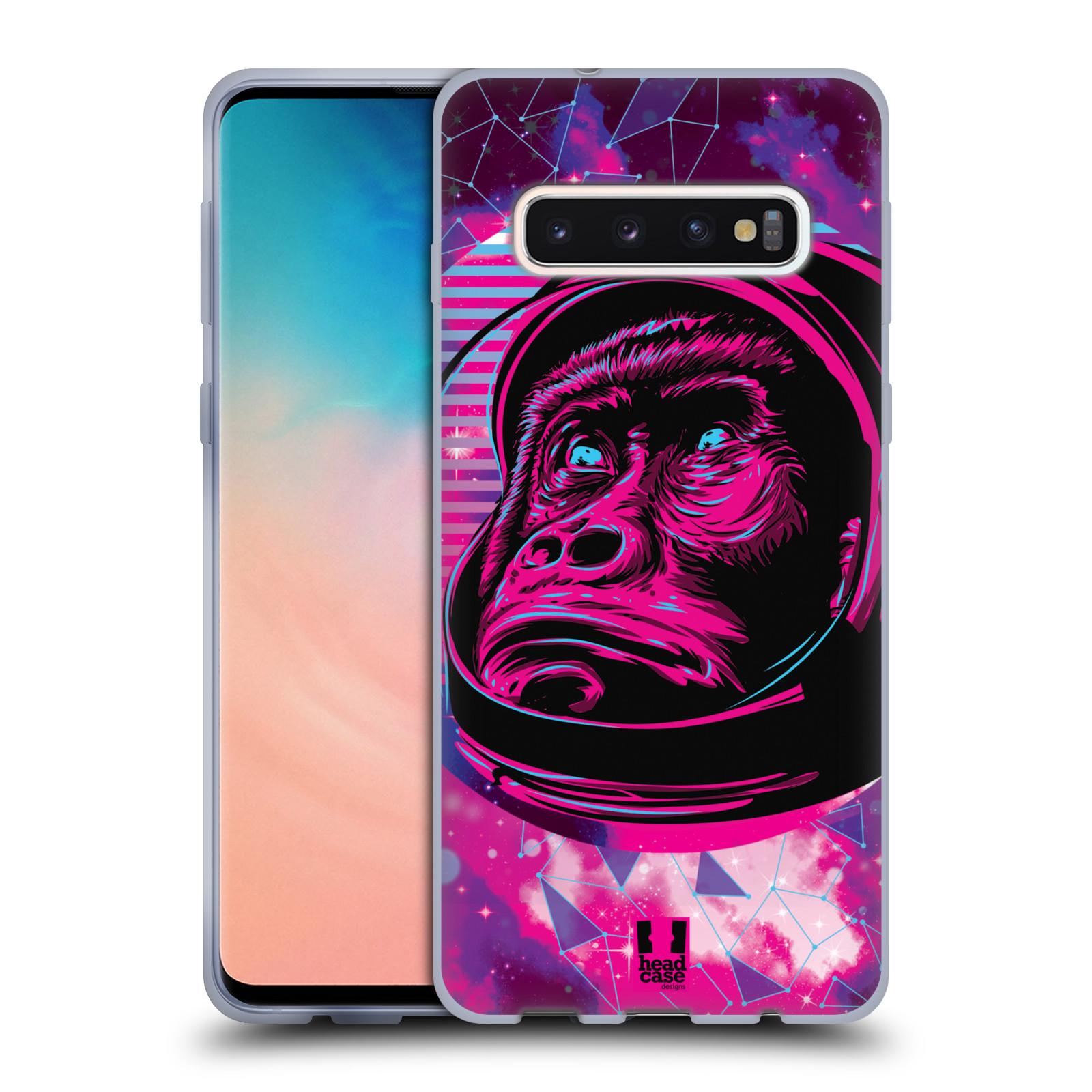 Silikonové pouzdro na mobil Samsung Galaxy S10 - Head Case - Gorila ve skafandru