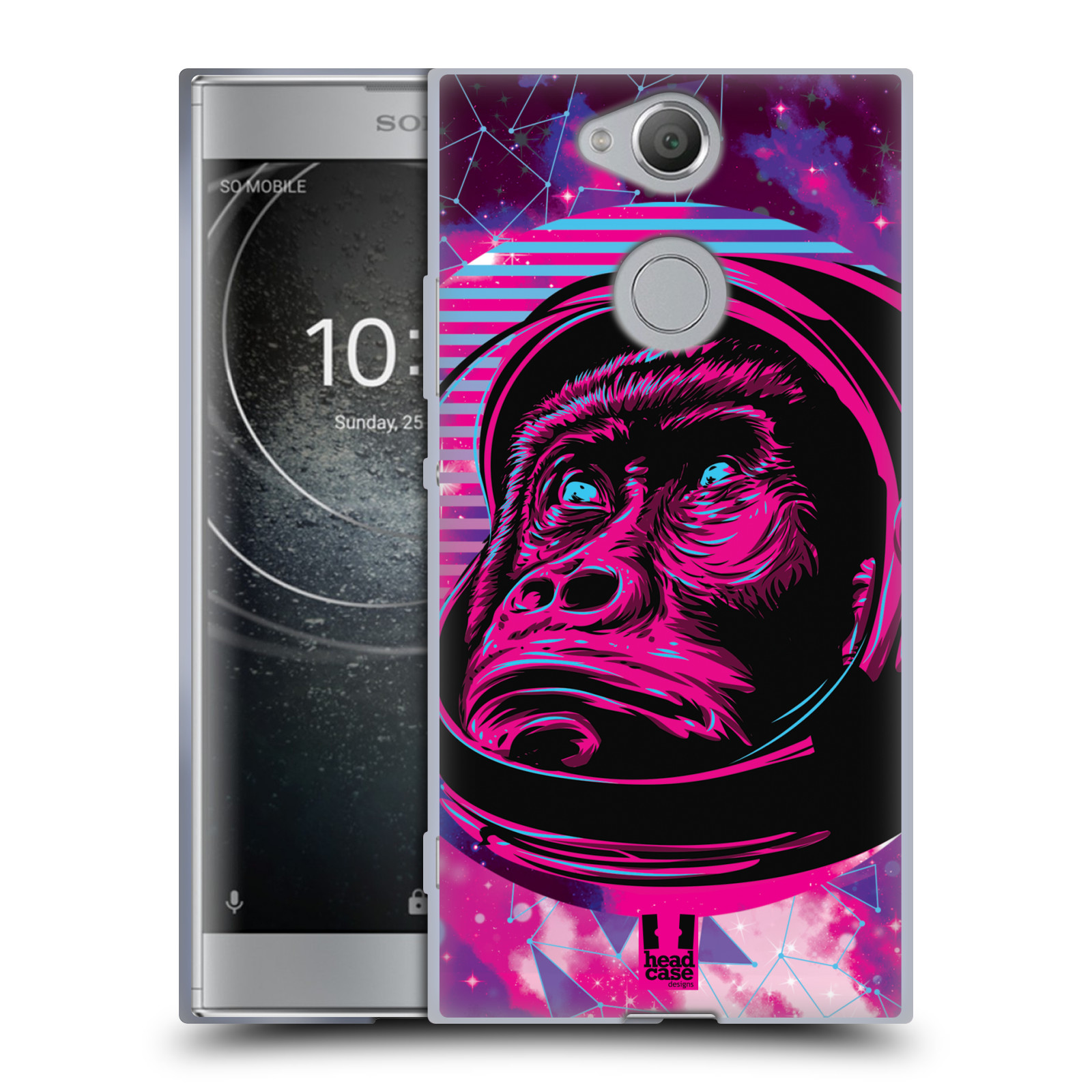 Silikonové pouzdro na mobil Sony Xperia XA2 - Head Case - Gorila ve skafandru