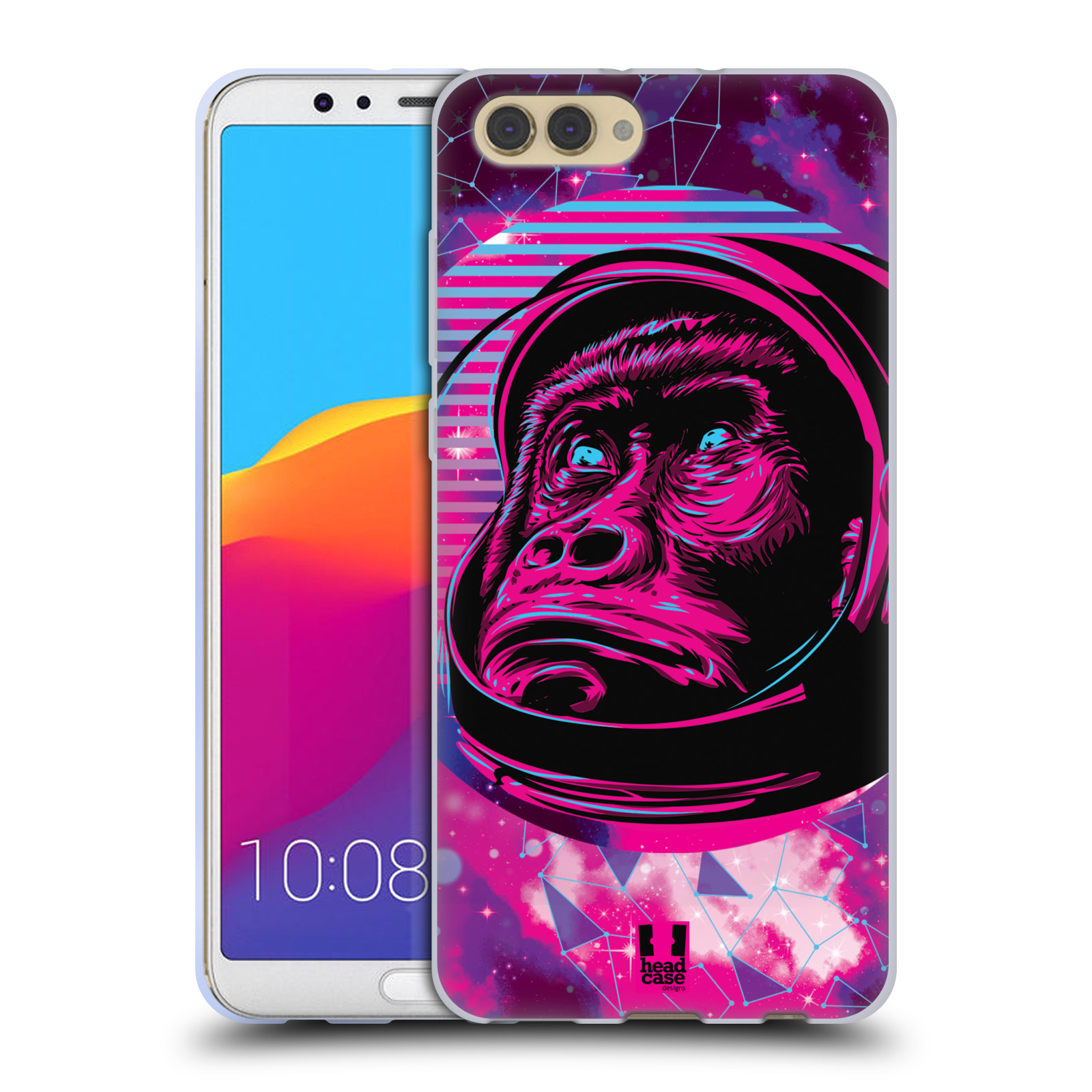Silikonové pouzdro na mobil Honor View 10 - Head Case - Gorila ve skafandru