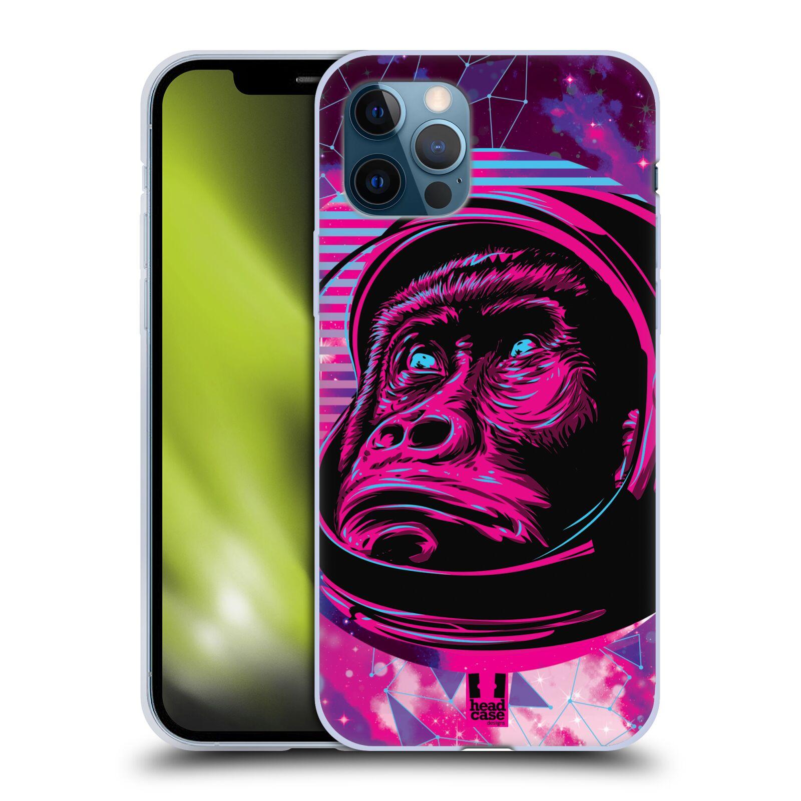Silikonové pouzdro na mobil Apple iPhone 12 / 12 Pro - Head Case - Gorila ve skafandru