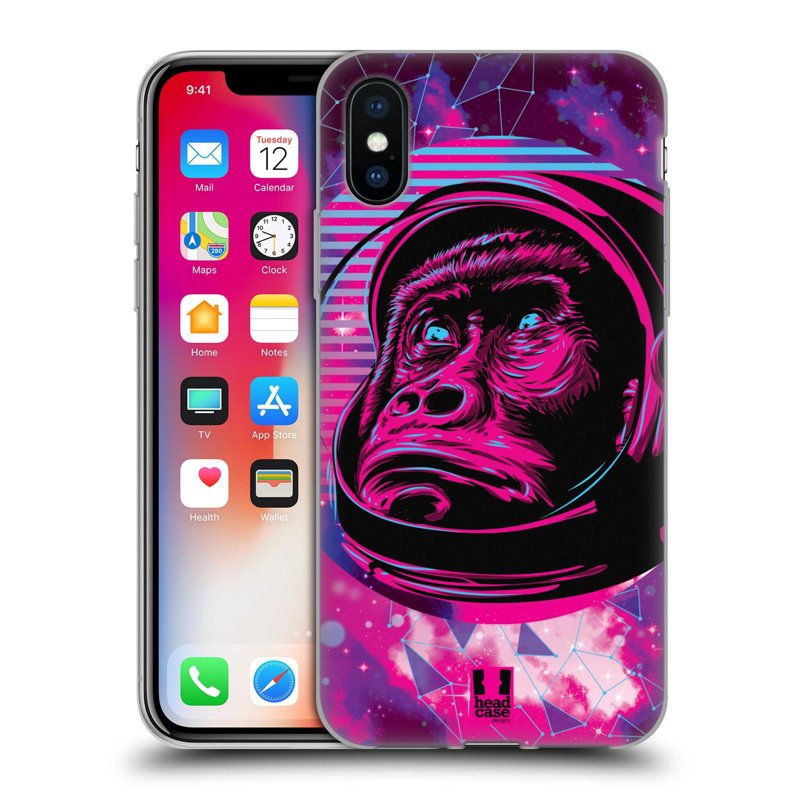 Silikonové pouzdro na mobil Apple iPhone XS - Head Case - Gorila ve skafandru