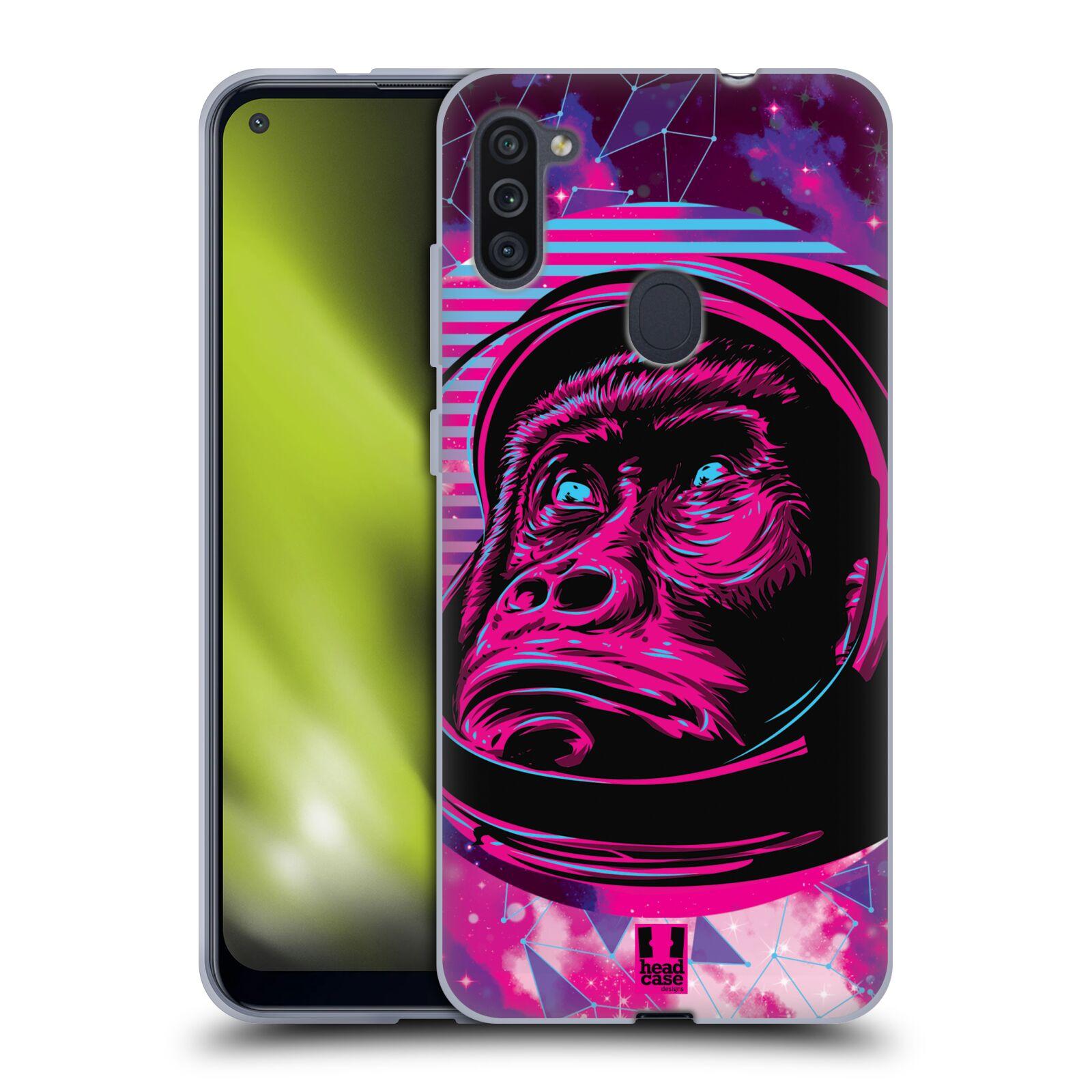 Silikonové pouzdro na mobil Samsung Galaxy M11 - Head Case - Gorila ve skafandru
