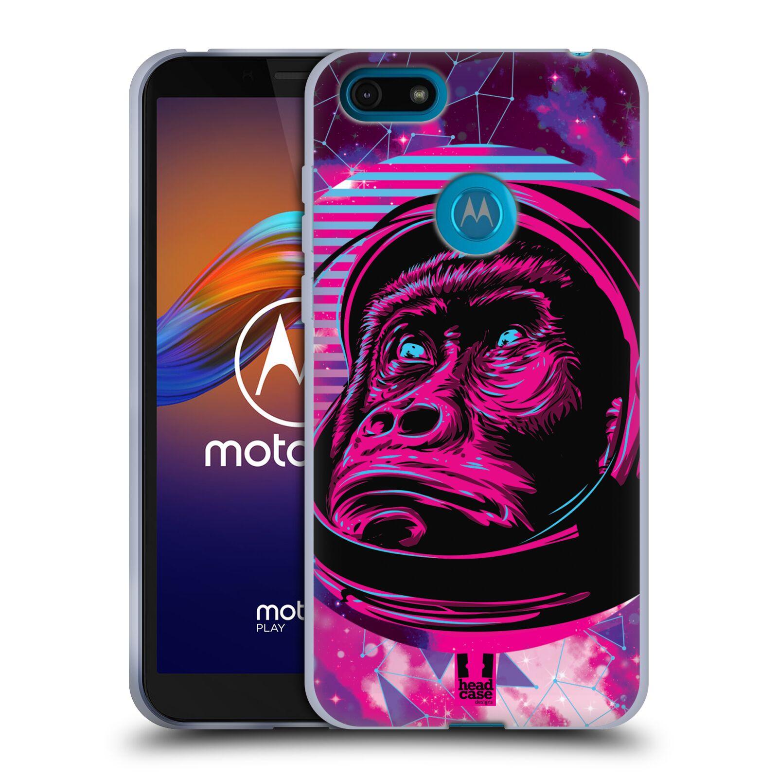 Silikonové pouzdro na mobil Motorola Moto E6 Play - Head Case - Gorila ve skafandru
