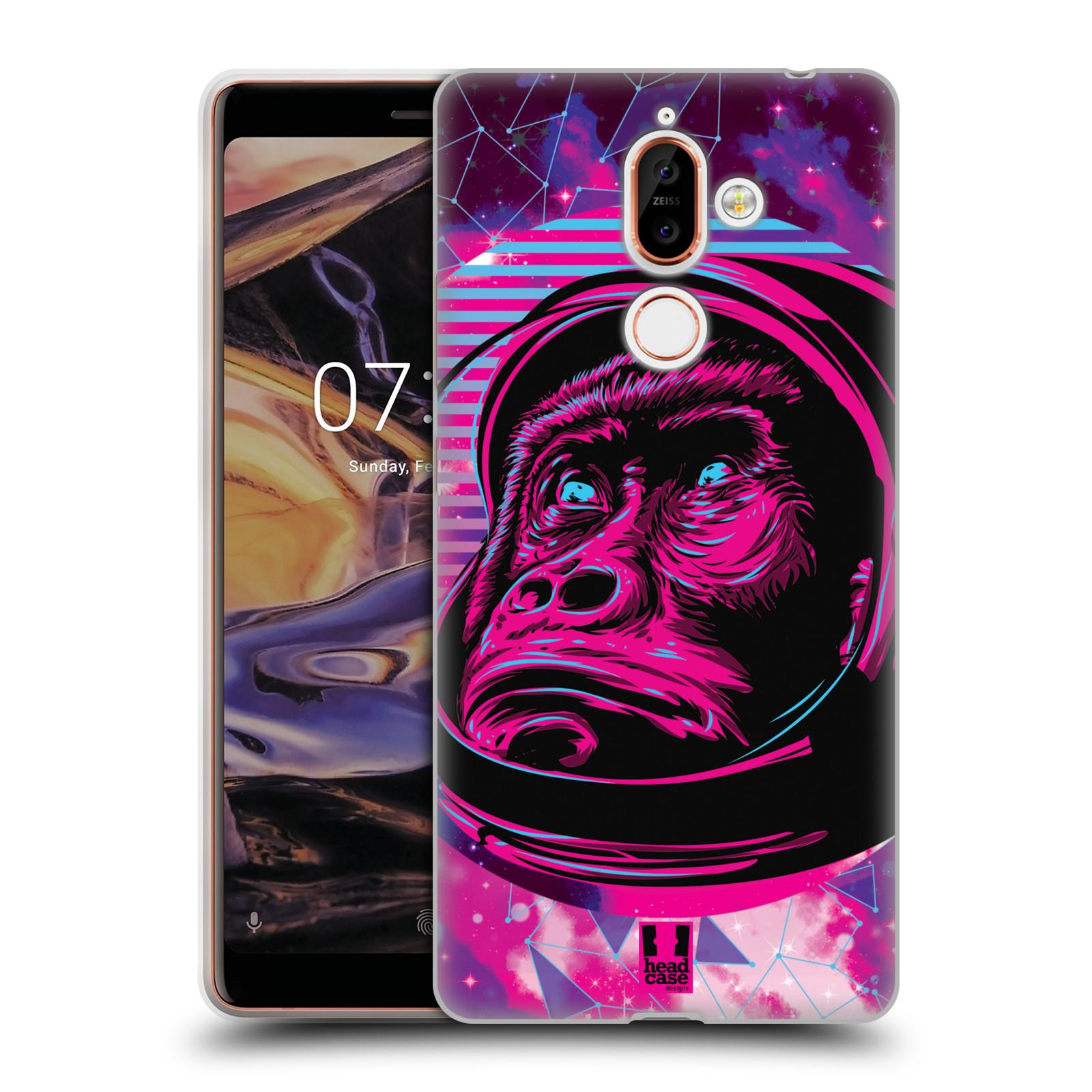 Silikonové pouzdro na mobil Nokia 7 Plus - Head Case - Gorila ve skafandru