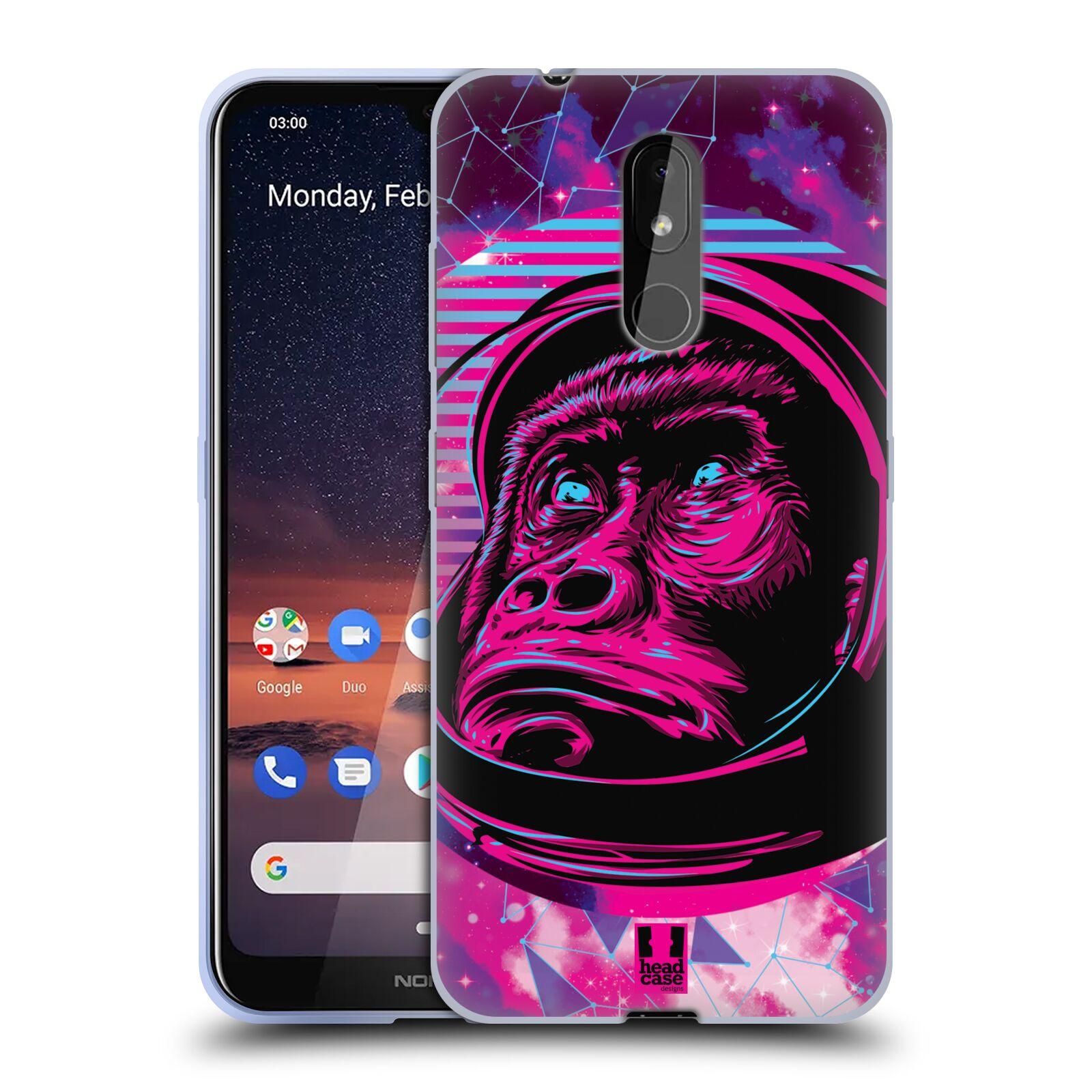 Silikonové pouzdro na mobil Nokia 3.2 - Head Case - Gorila ve skafandru