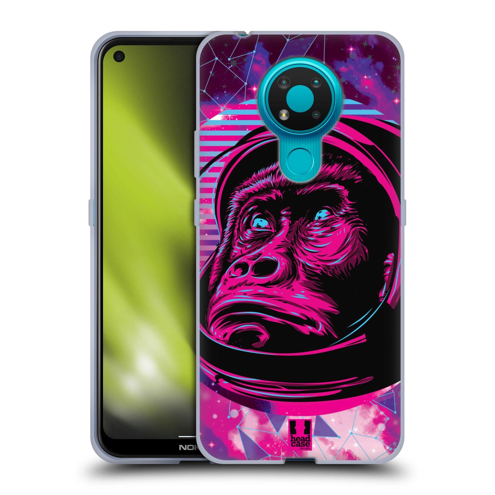 Silikonové pouzdro na mobil Nokia 3.4 - Head Case - Gorila ve skafandru