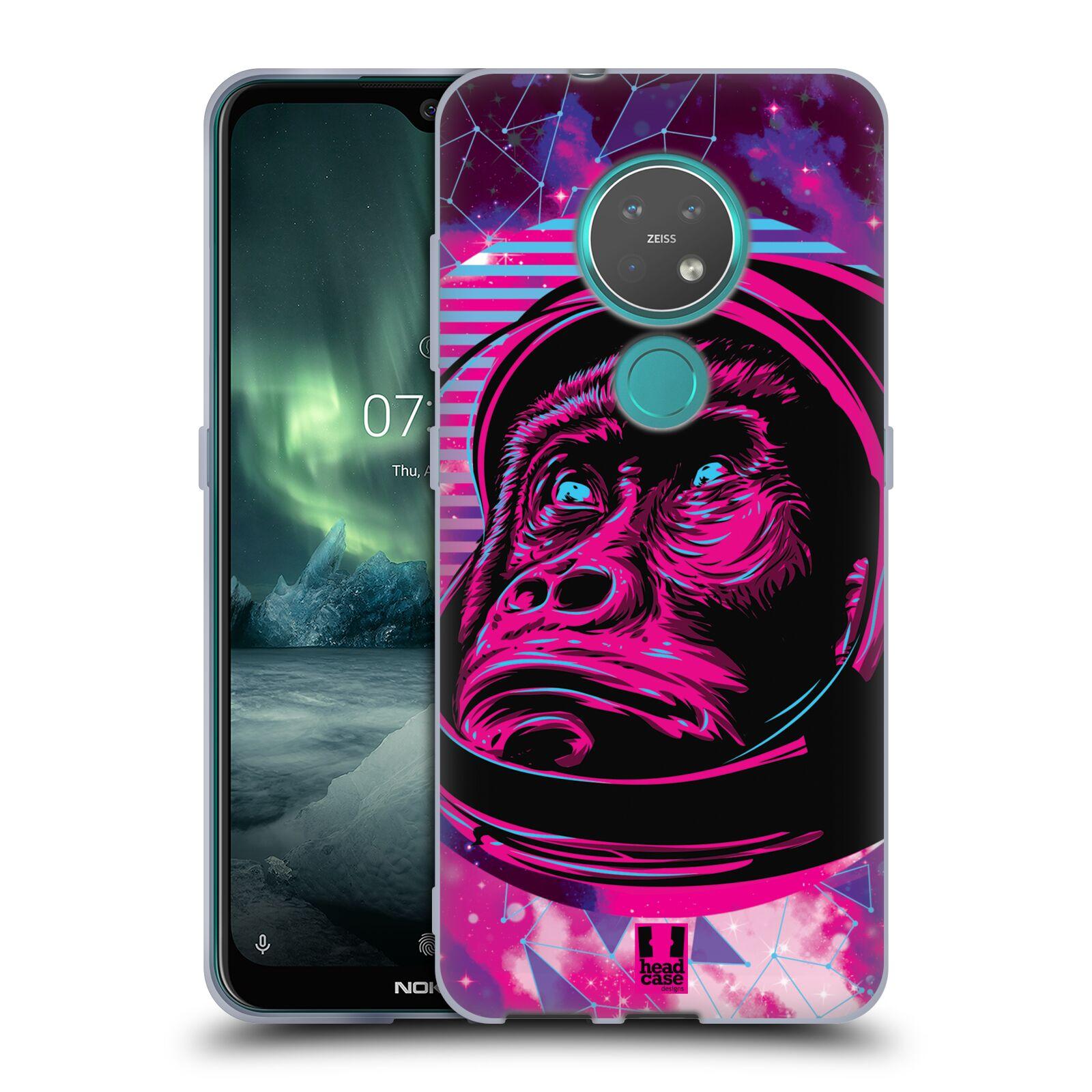 Silikonové pouzdro na mobil Nokia 7.2 - Head Case - Gorila ve skafandru