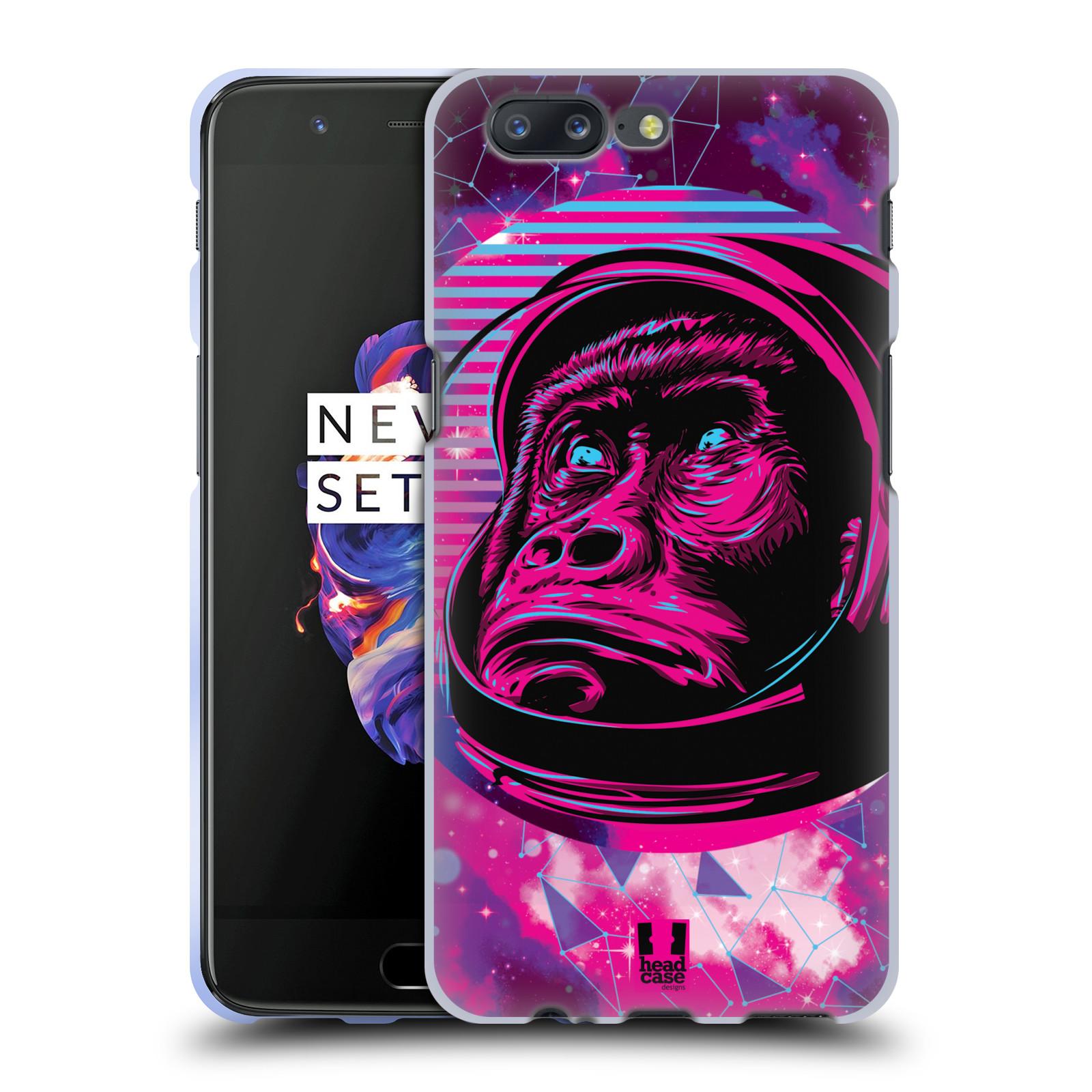 Silikonové pouzdro na mobil OnePlus 5 - Head Case - Gorila ve skafandru