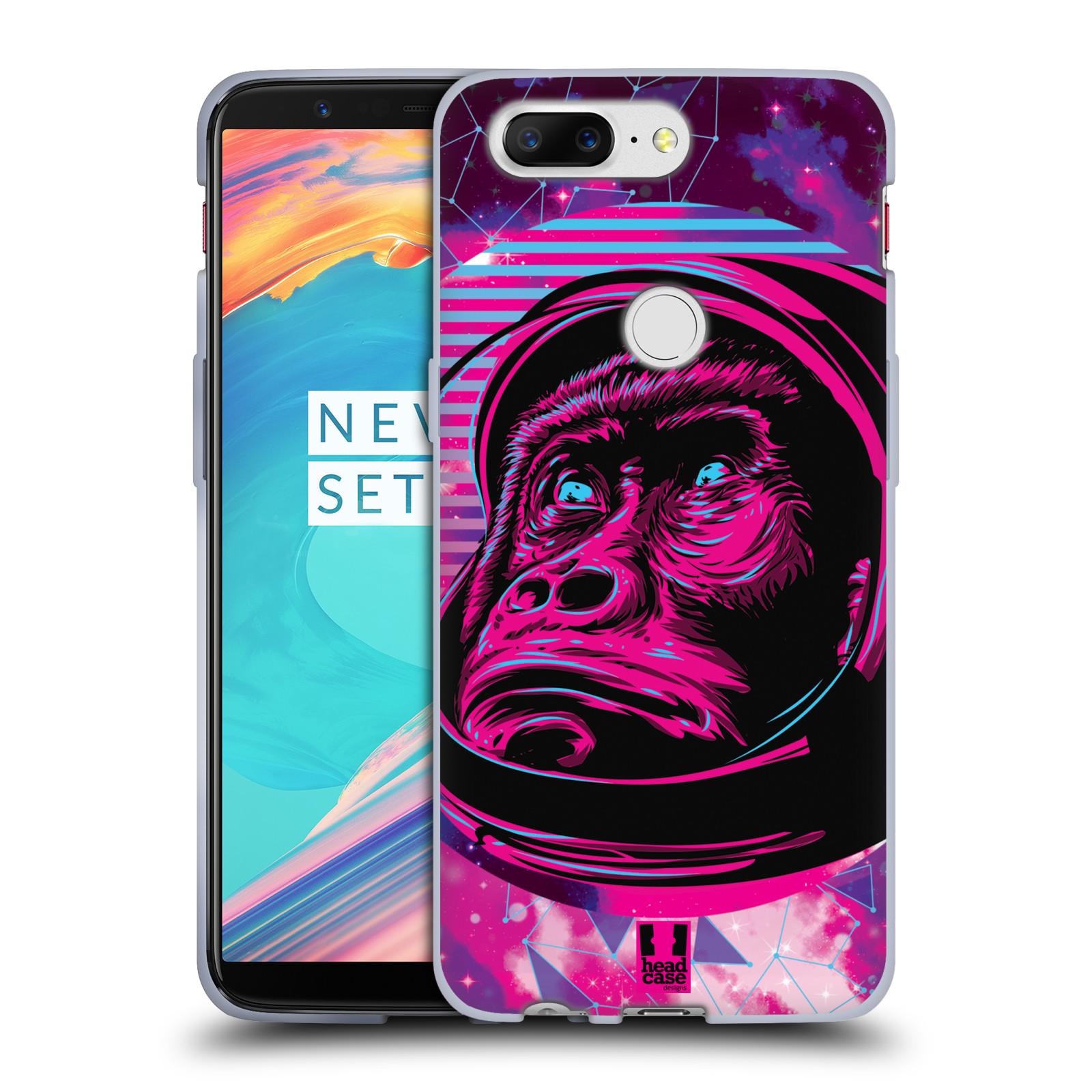 Silikonové pouzdro na mobil OnePlus 5T - Head Case - Gorila ve skafandru