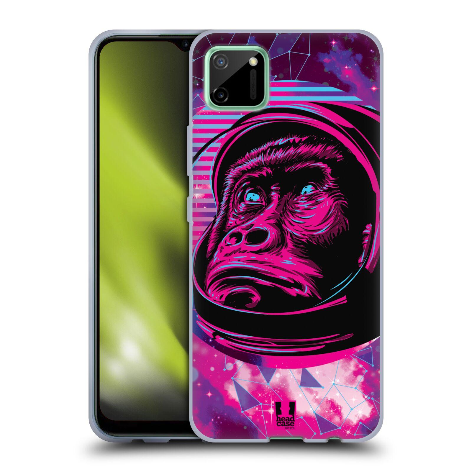 Silikonové pouzdro na mobil Realme C11 - Head Case - Gorila ve skafandru