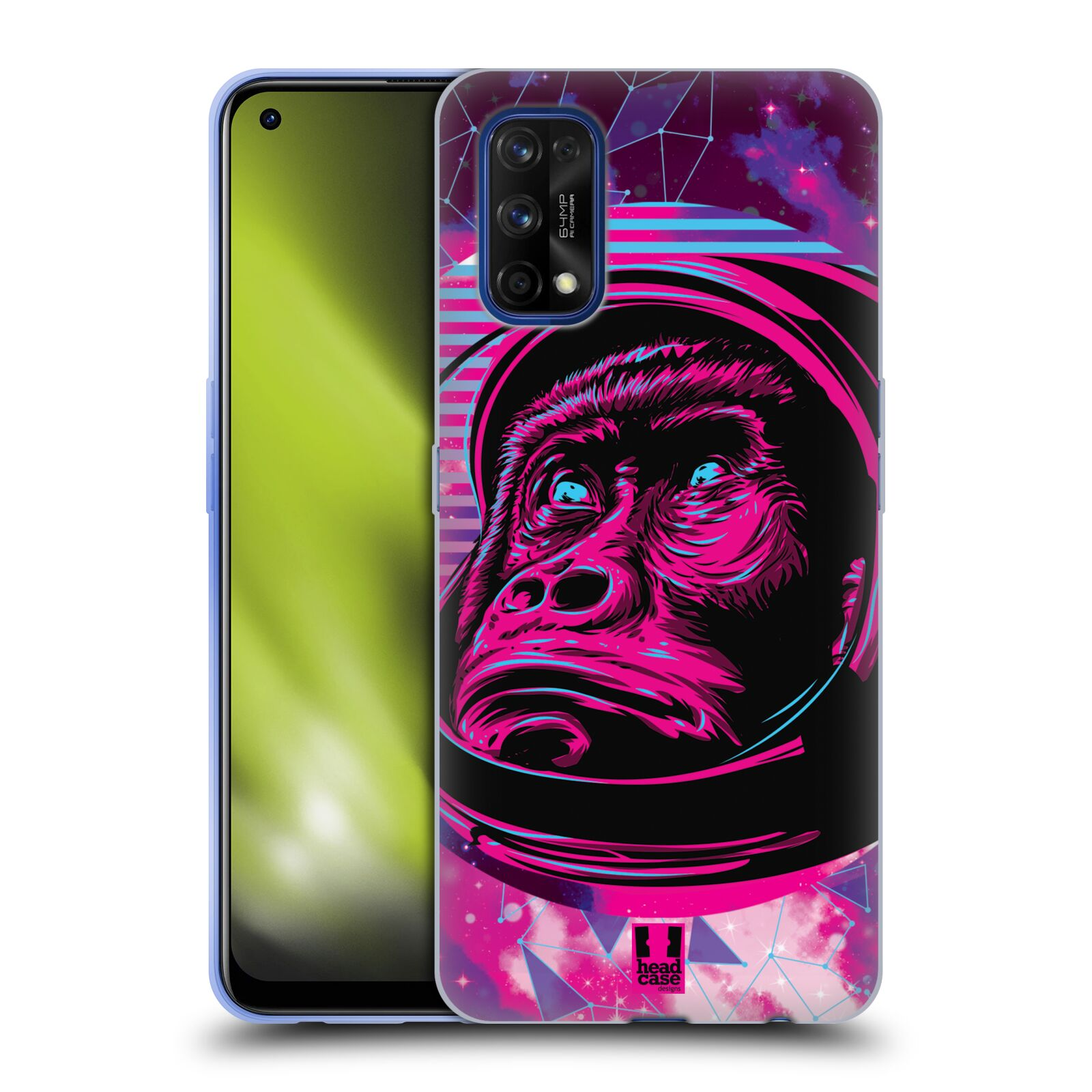 Silikonové pouzdro na mobil Realme 7 Pro - Head Case - Gorila ve skafandru