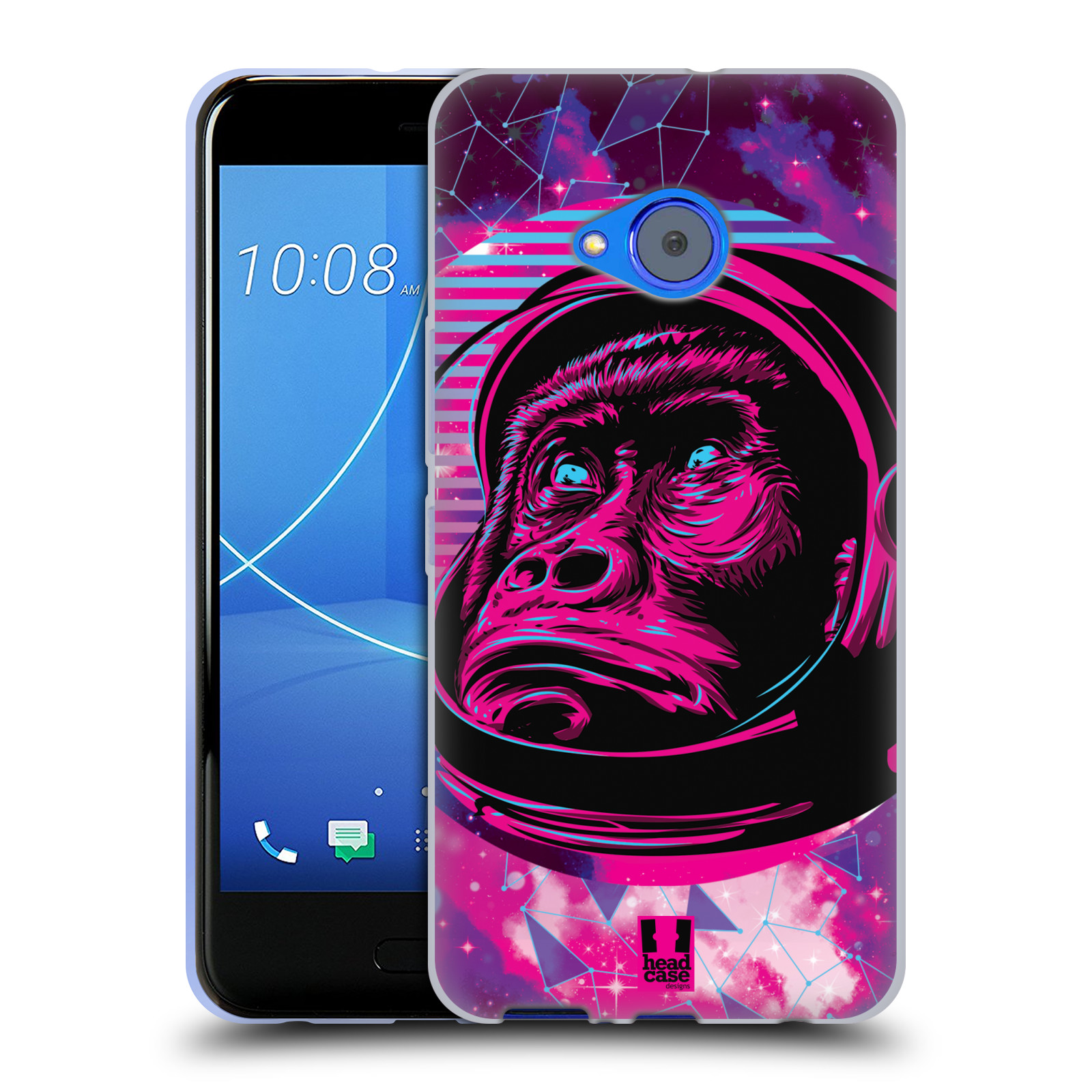 Silikonové pouzdro na mobil HTC U11 Life - Head Case - Gorila ve skafandru