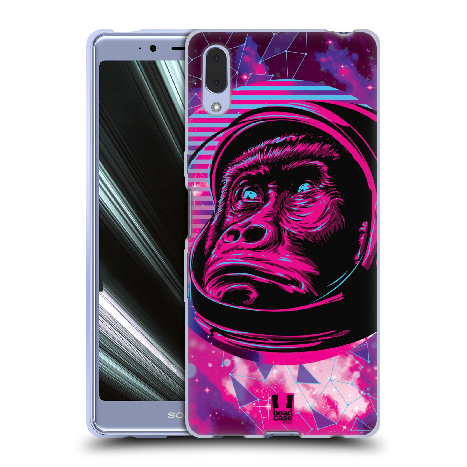 Silikonové pouzdro na mobil Sony Xperia L3 - Head Case - Gorila ve skafandru