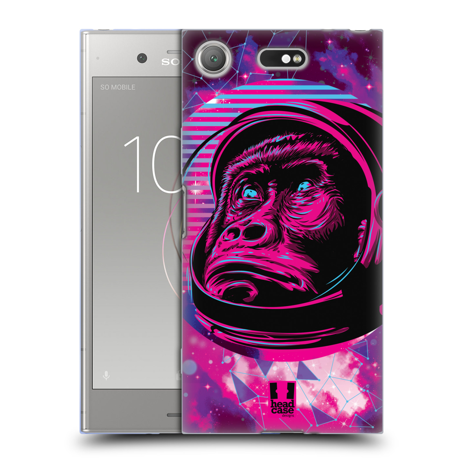 Silikonové pouzdro na mobil Sony Xperia XZ1 Compact - Head Case - Gorila ve skafandru