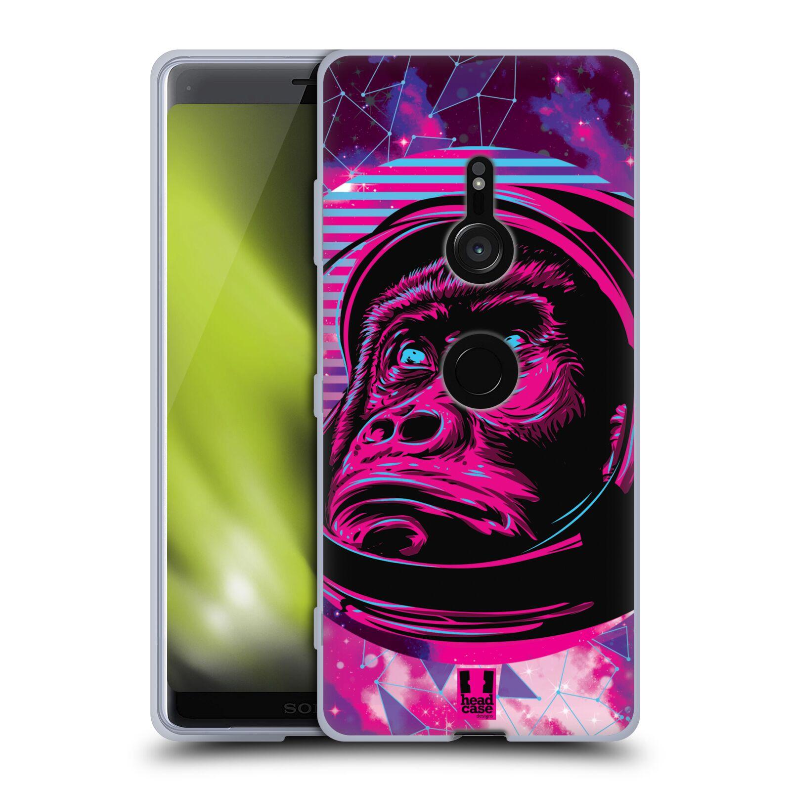 Silikonové pouzdro na mobil Sony Xperia XZ3 - Head Case - Gorila ve skafandru