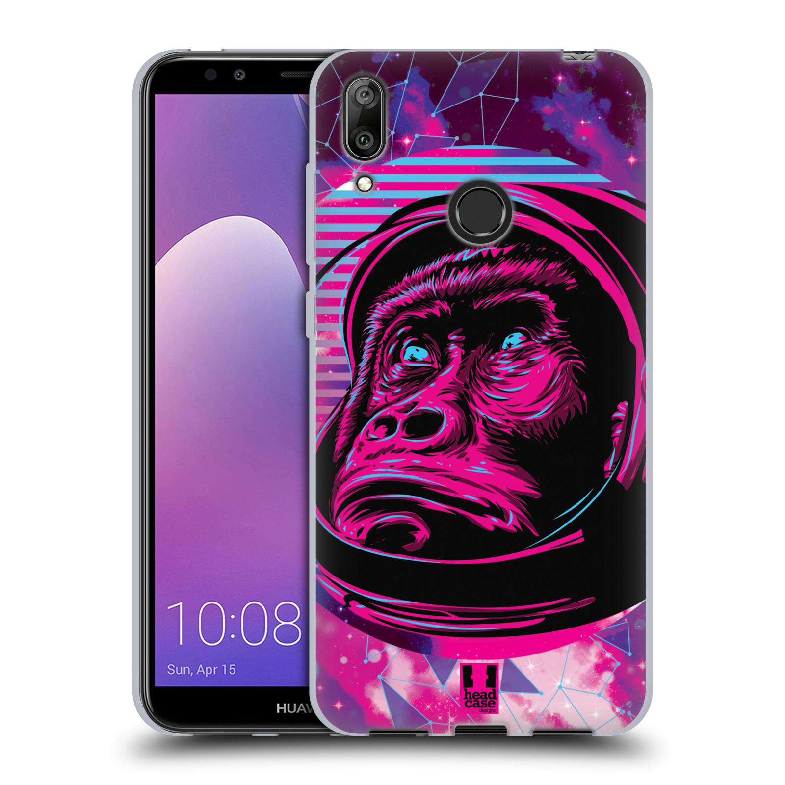 Silikonové pouzdro na mobil Huawei Y7 (2019) - Head Case - Gorila ve skafandru