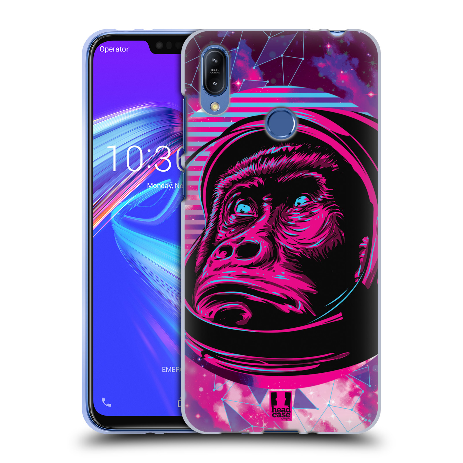 Silikonové pouzdro na mobil Asus Zenfone Max (M2) ZB633KL - Head Case - Gorila ve skafandru