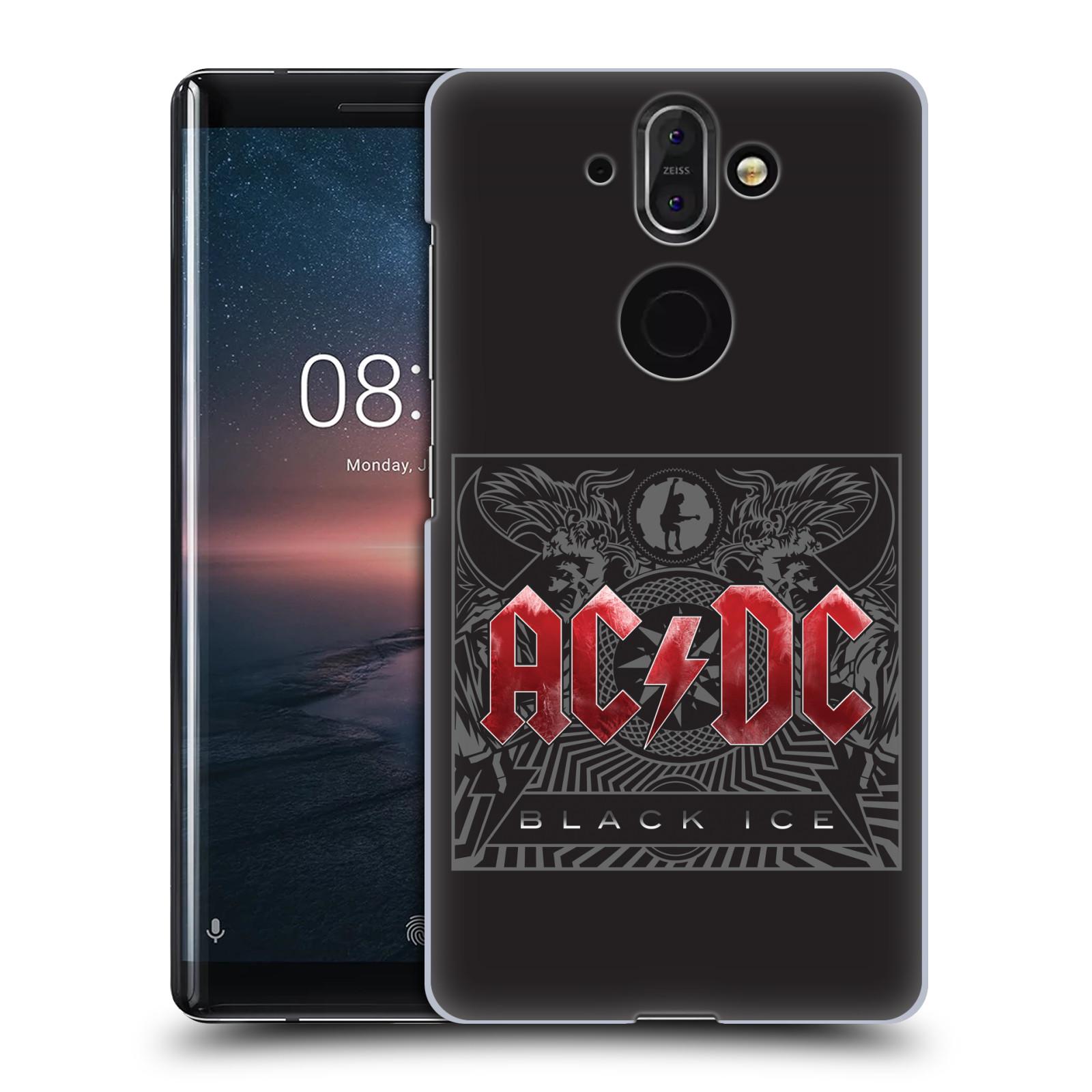 Plastové pouzdro na mobil Nokia 8 Sirocco - Head Case - AC/DC Black Ice