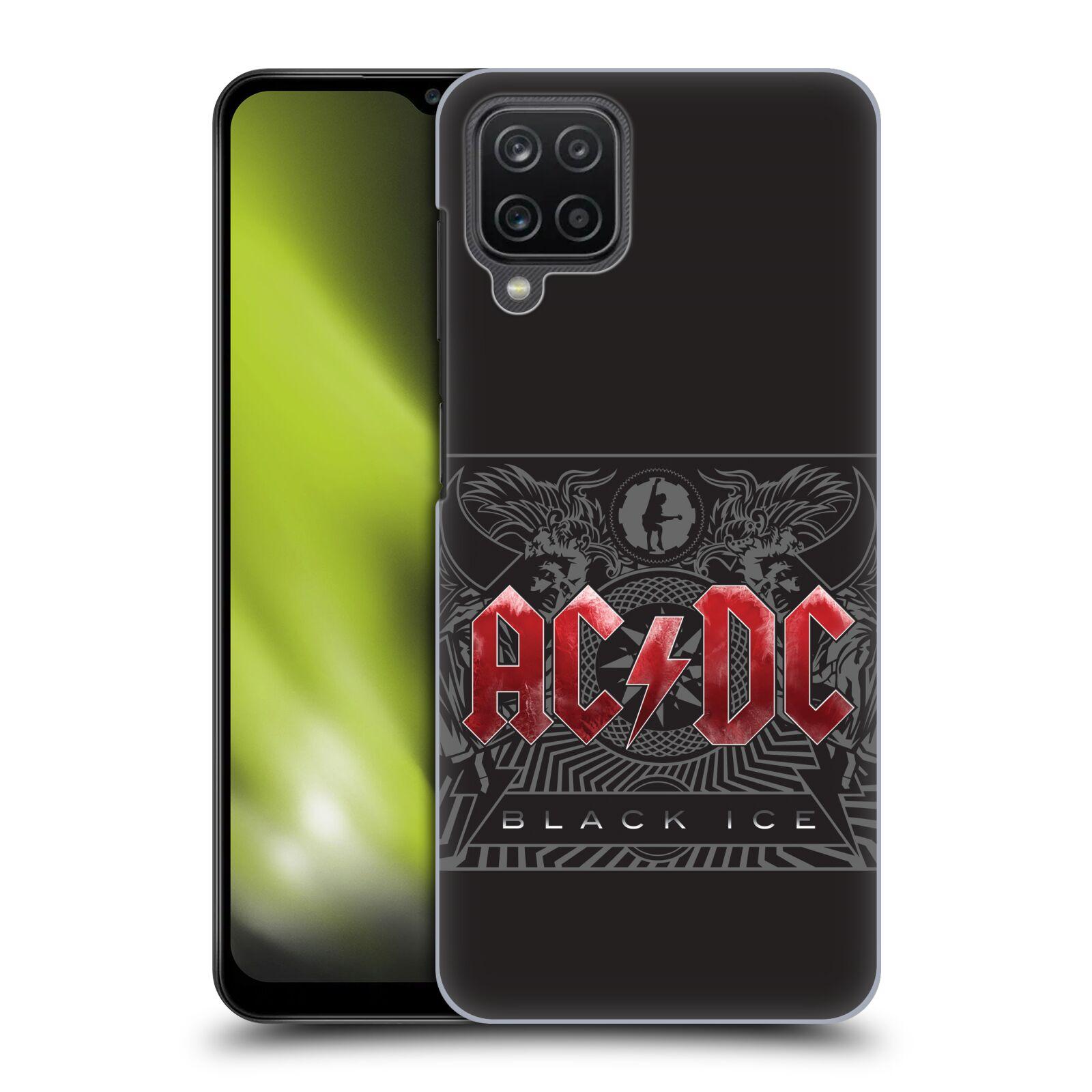 Plastové pouzdro na mobil Samsung Galaxy A12 - Head Case - AC/DC Black Ice