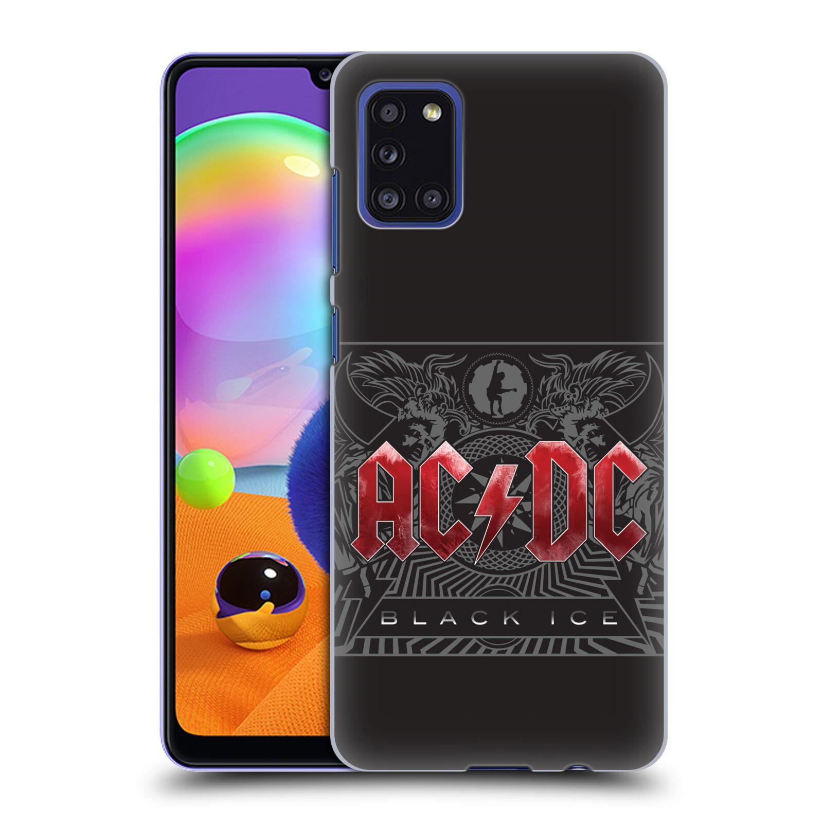 Plastové pouzdro na mobil Samsung Galaxy A31 - Head Case - AC/DC Black Ice