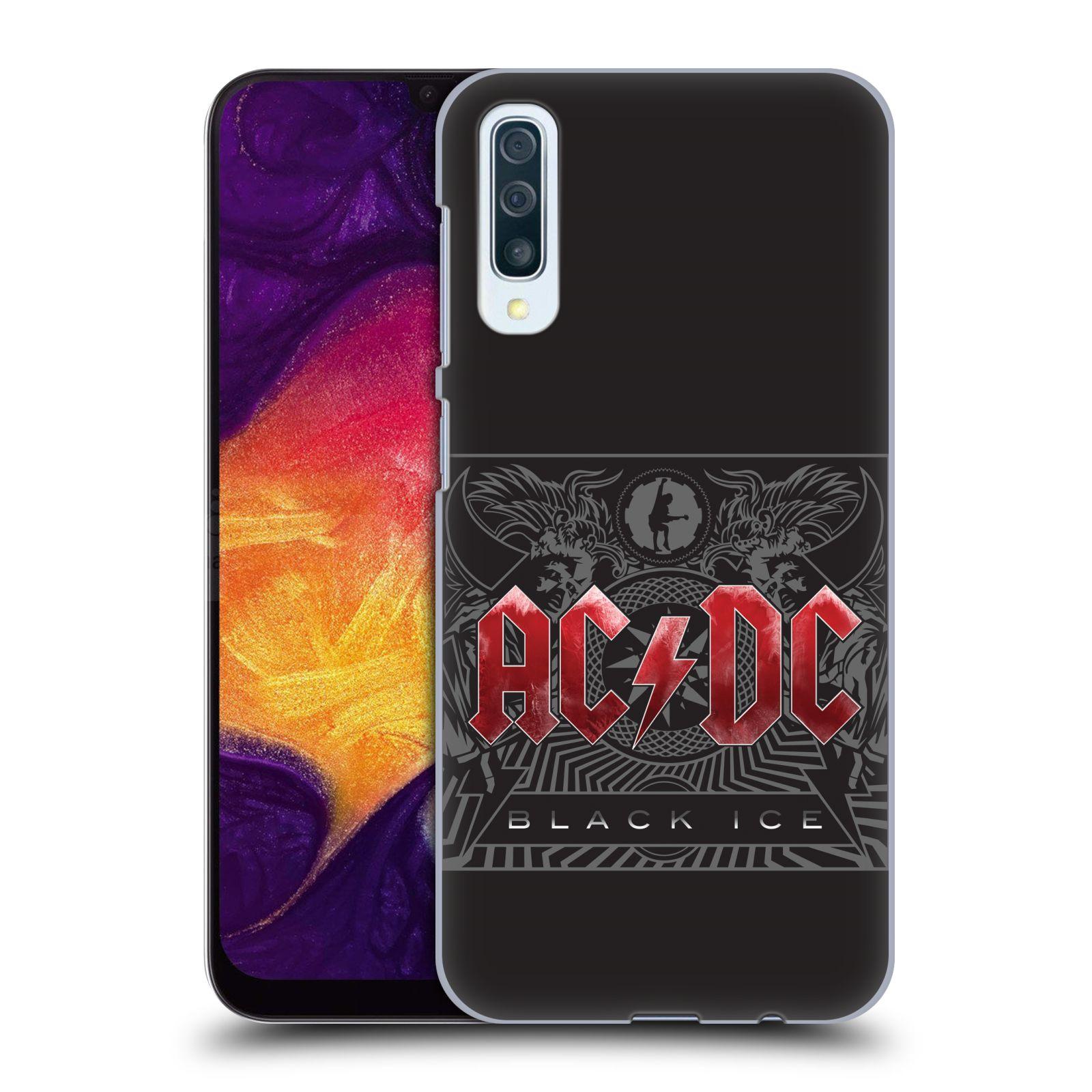 Plastové pouzdro na mobil Samsung Galaxy A50 - Head Case - AC/DC Black Ice