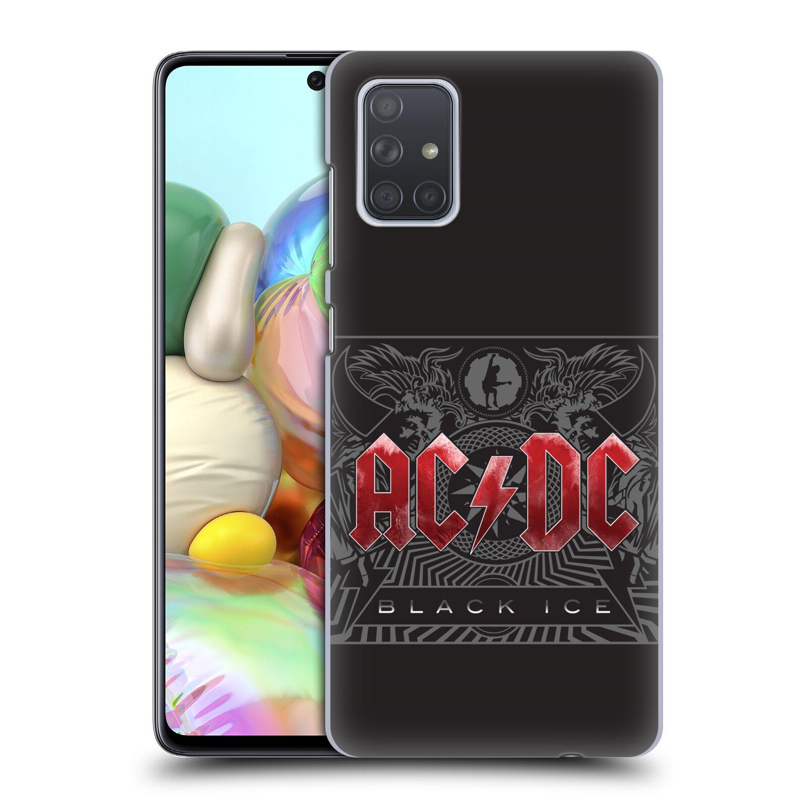 Plastové pouzdro na mobil Samsung Galaxy A71 - Head Case - AC/DC Black Ice