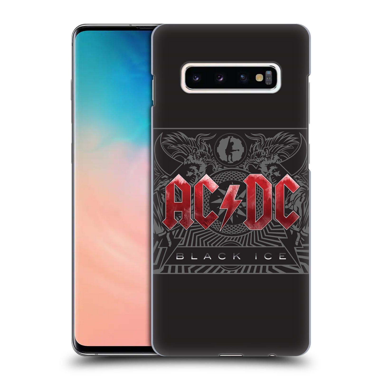 Plastové pouzdro na mobil Samsung Galaxy S10 Plus - Head Case - AC/DC Black Ice