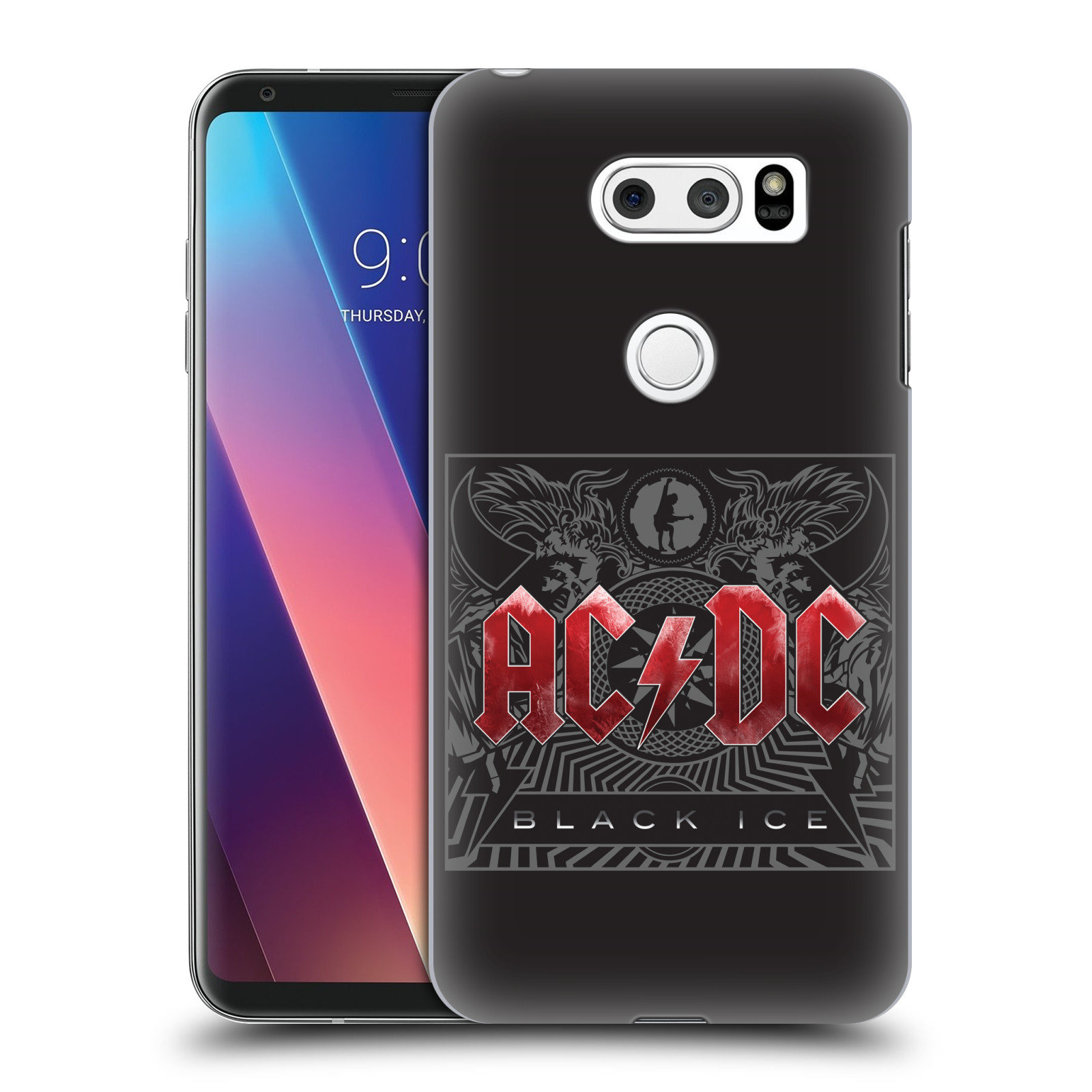 Plastové pouzdro na mobil LG V30 - Head Case - AC/DC Black Ice
