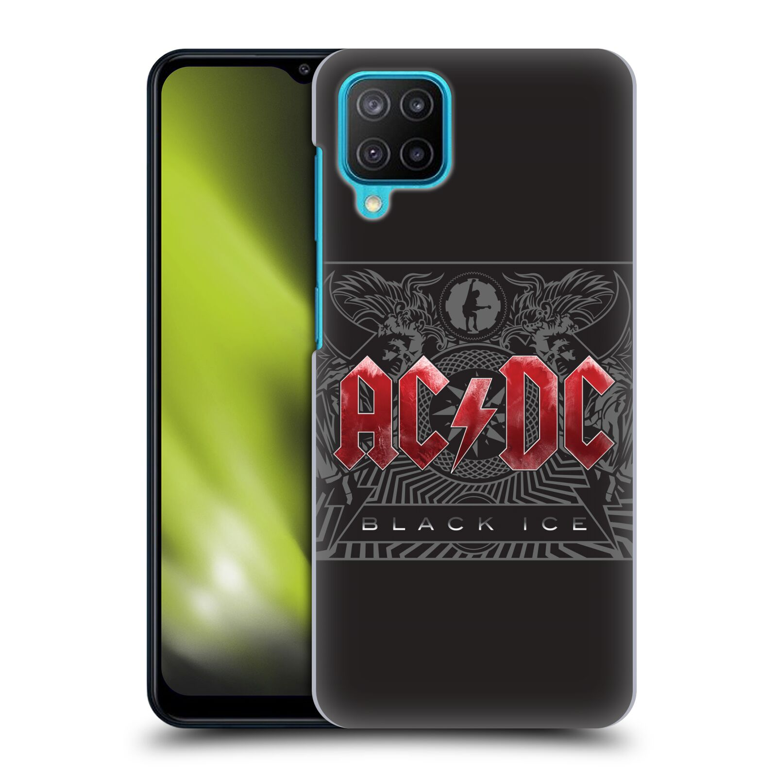 Plastové pouzdro na mobil Samsung Galaxy M12 - Head Case - AC/DC Black Ice