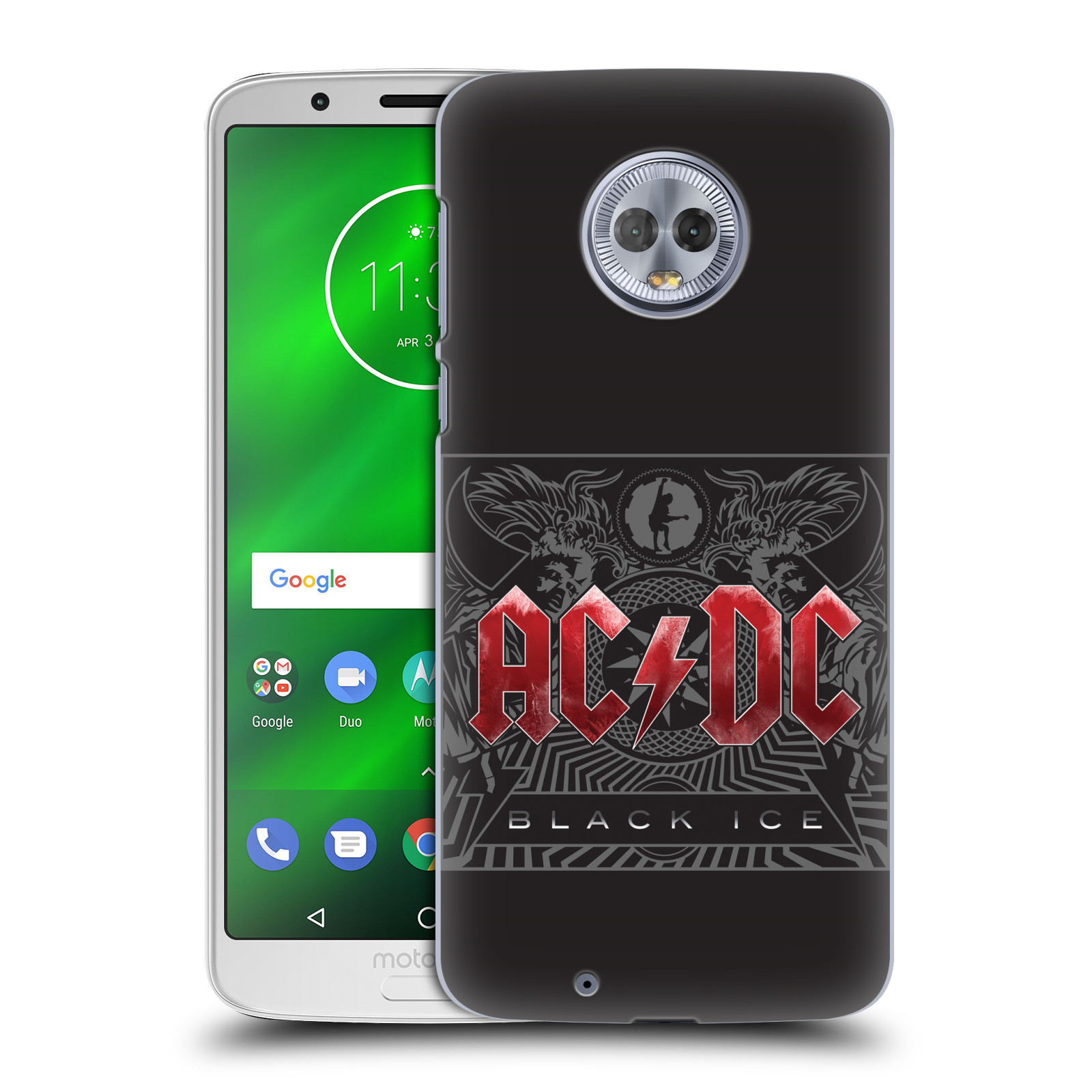 Plastové pouzdro na mobil Motorola Moto G6 - Head Case - AC/DC Black Ice