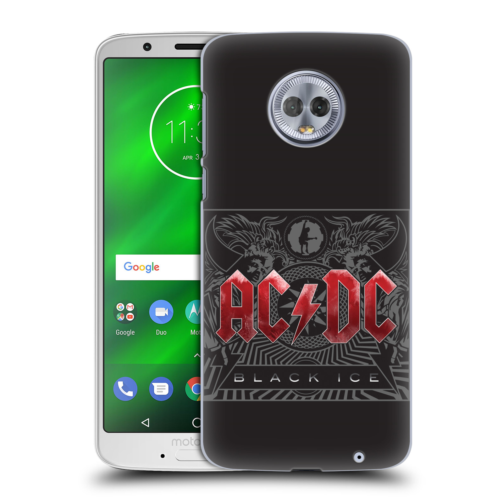 Plastové pouzdro na mobil Motorola Moto G6 Plus - Head Case - AC/DC Black Ice