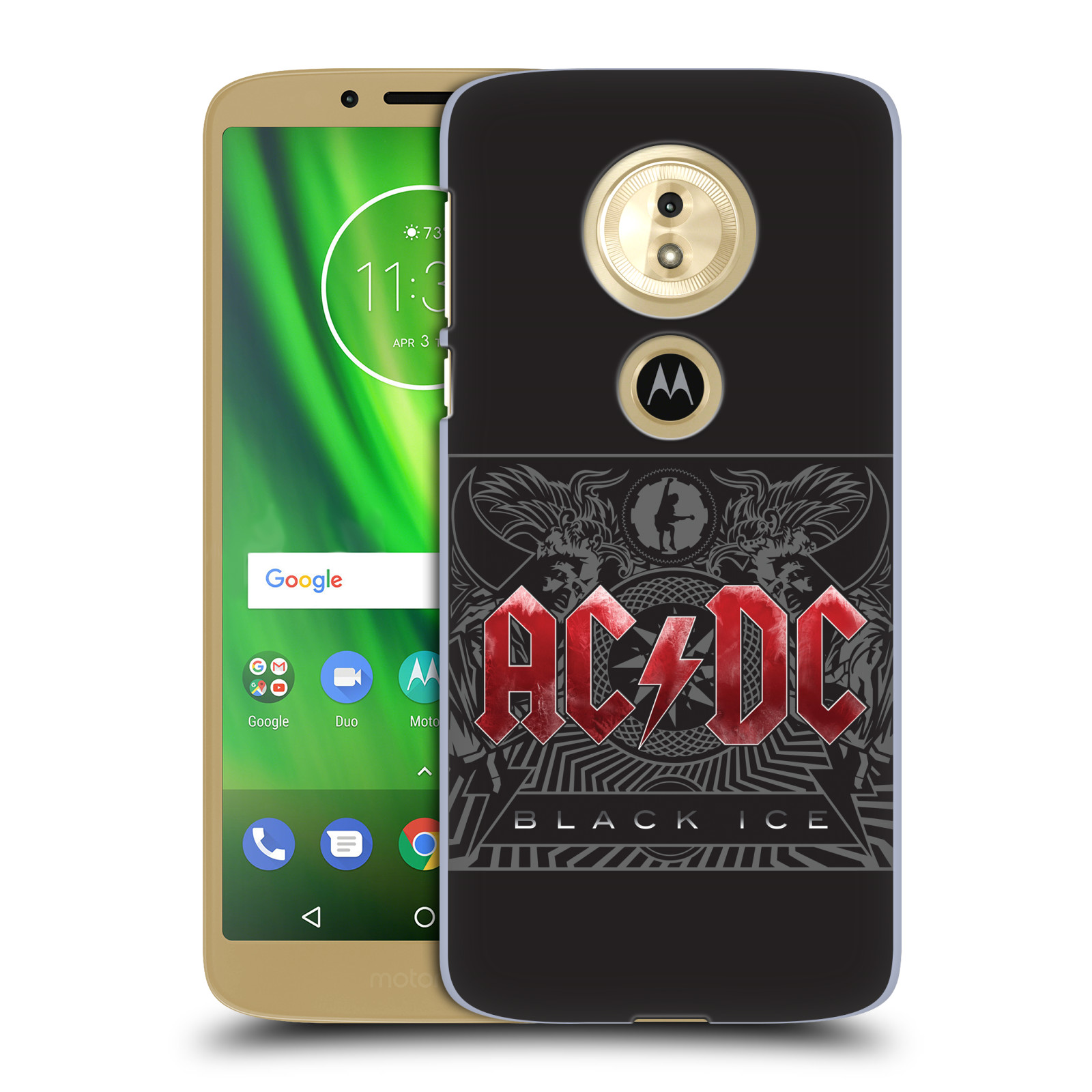Plastové pouzdro na mobil Motorola Moto G6 Play - Head Case - AC/DC Black Ice