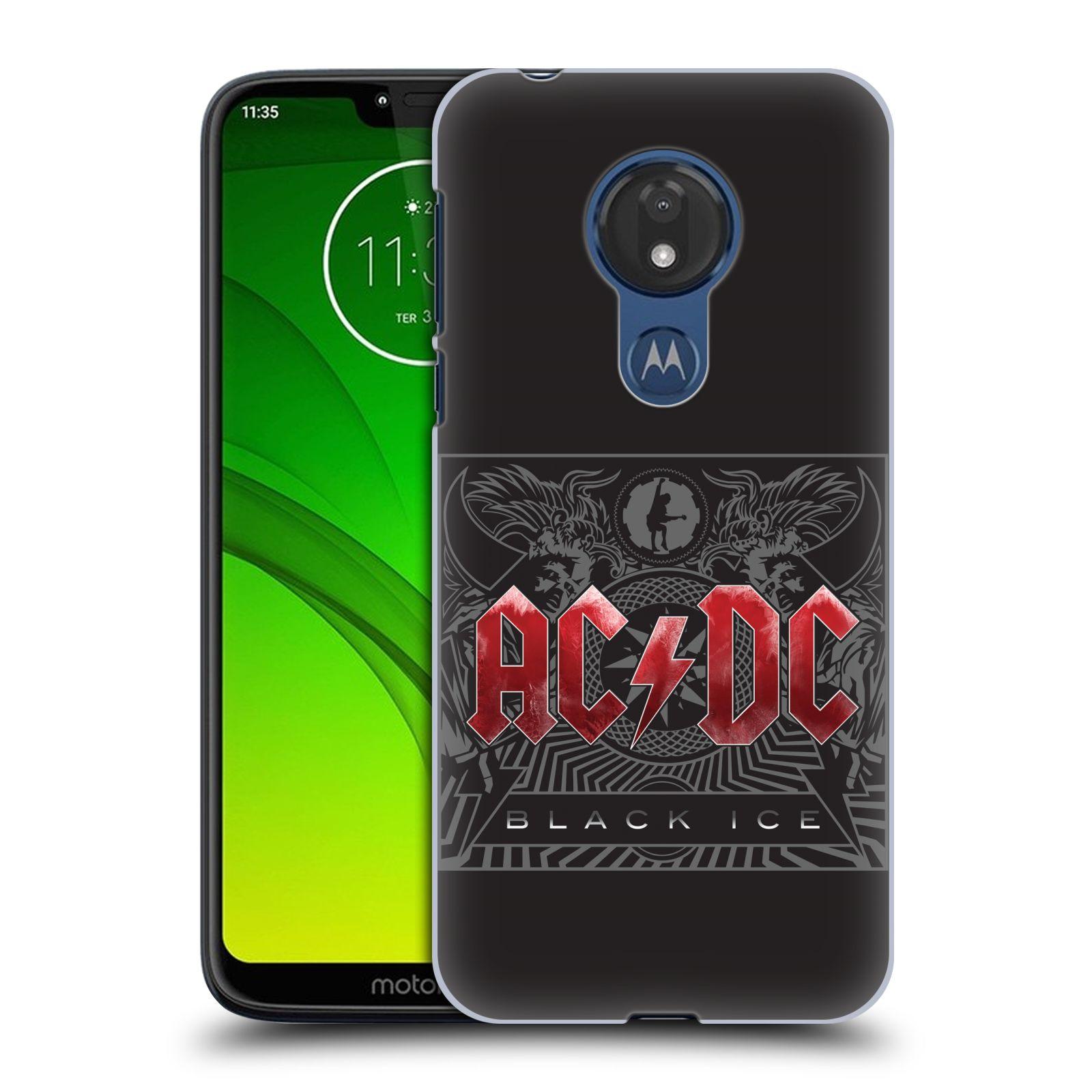 Plastové pouzdro na mobil Motorola Moto G7 Power - Head Case - AC/DC Black Ice