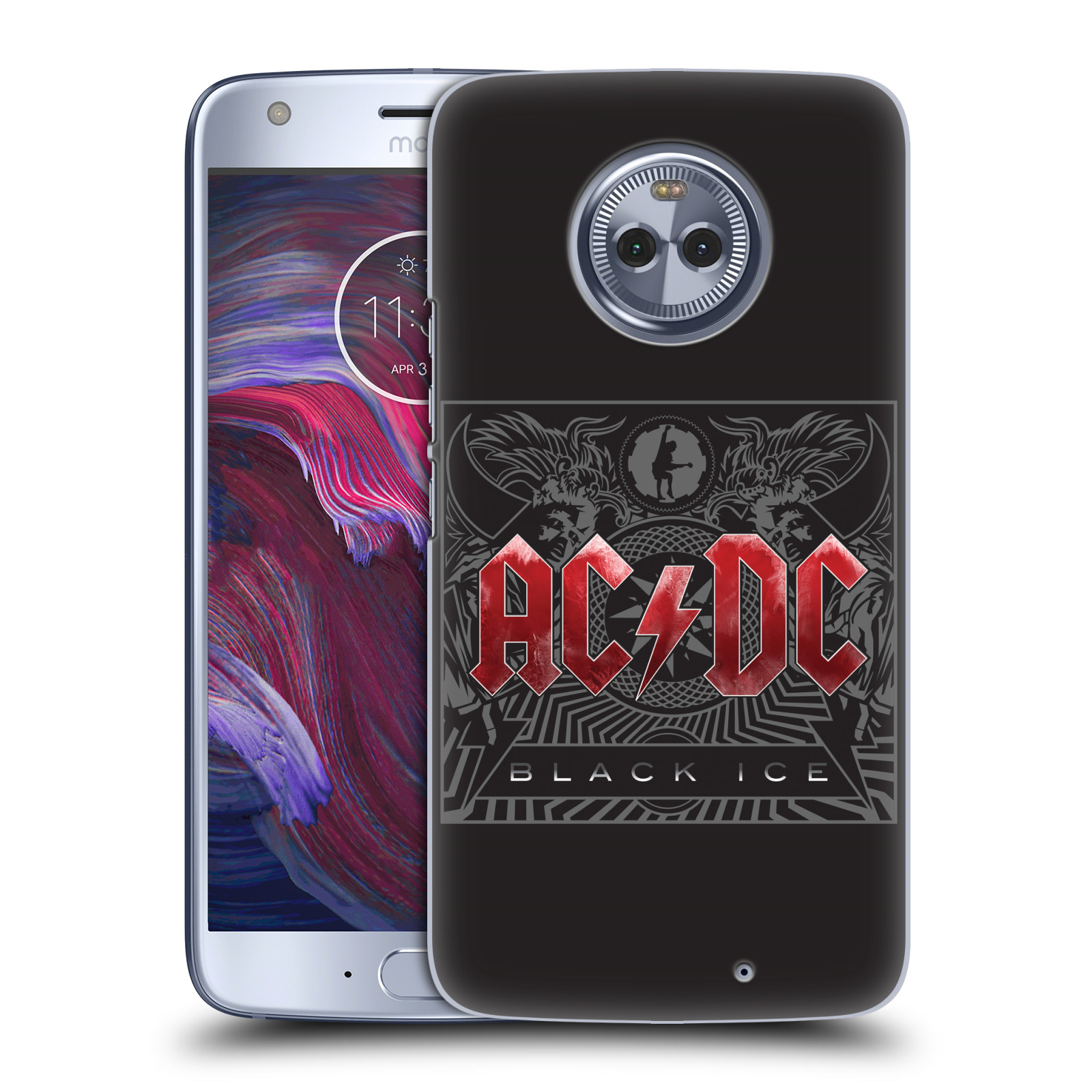 Plastové pouzdro na mobil Lenovo Moto X4 - Head Case - AC/DC Black Ice