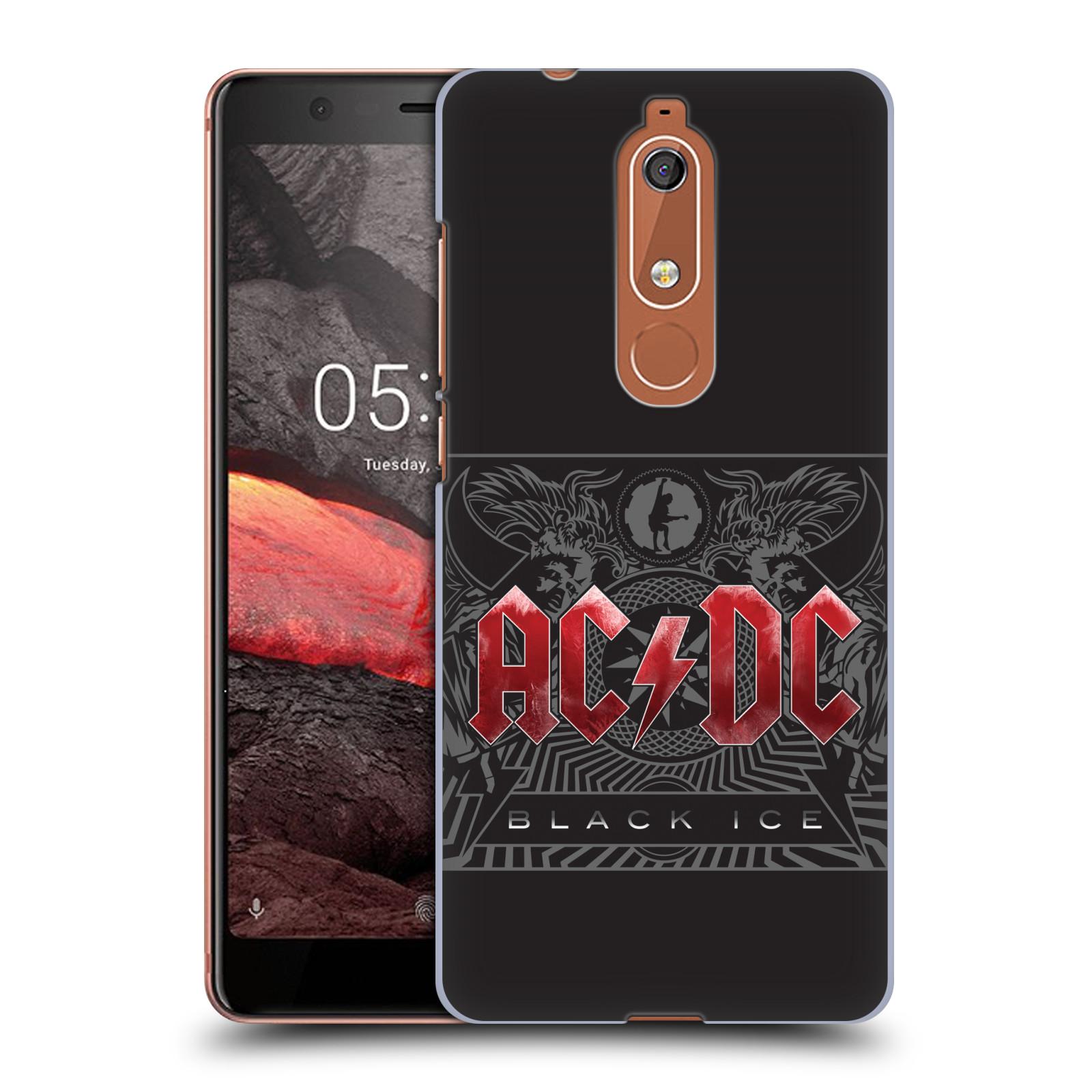 Plastové pouzdro na mobil Nokia 5.1 - Head Case - AC/DC Black Ice