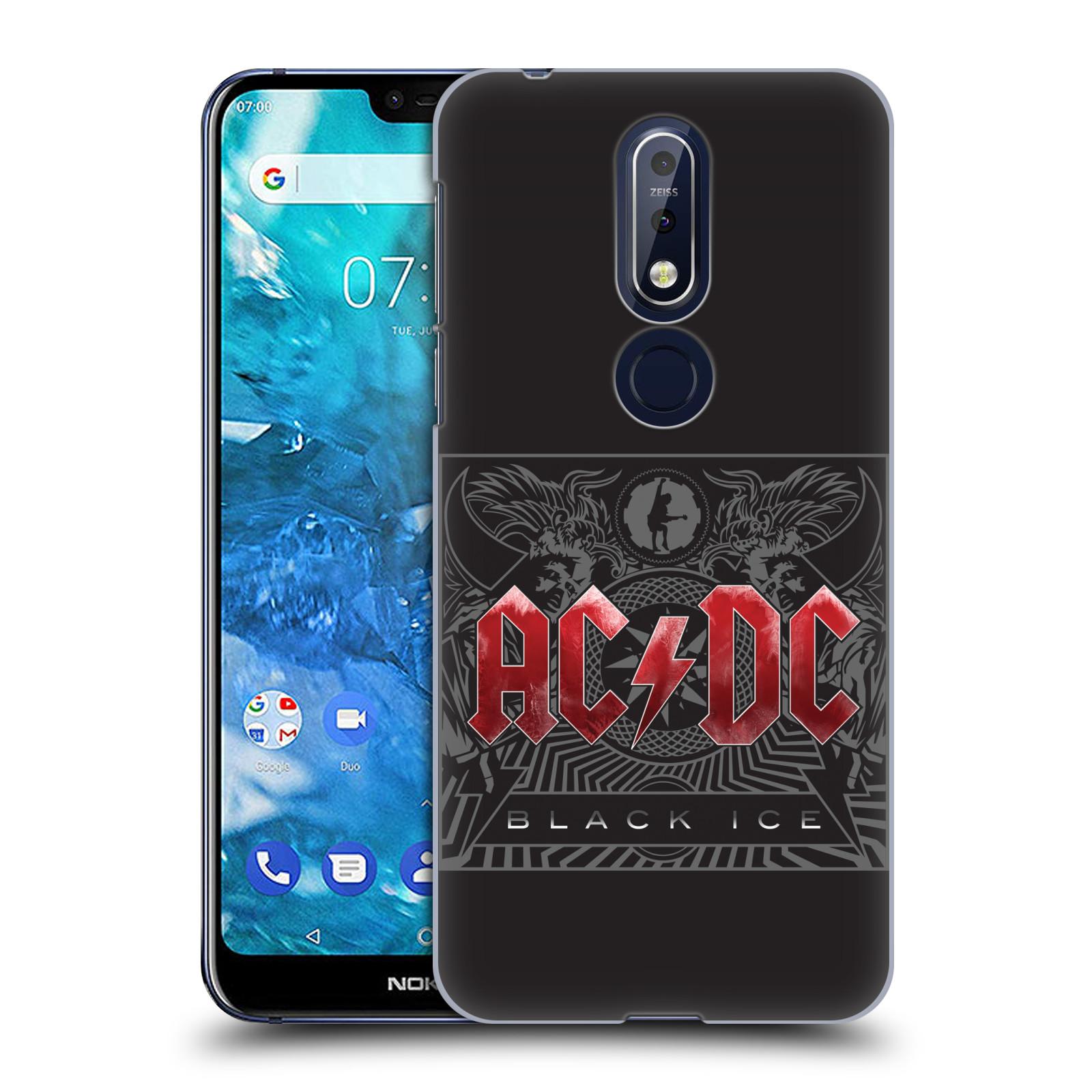 Plastové pouzdro na mobil Nokia 7.1 - Head Case - AC/DC Black Ice