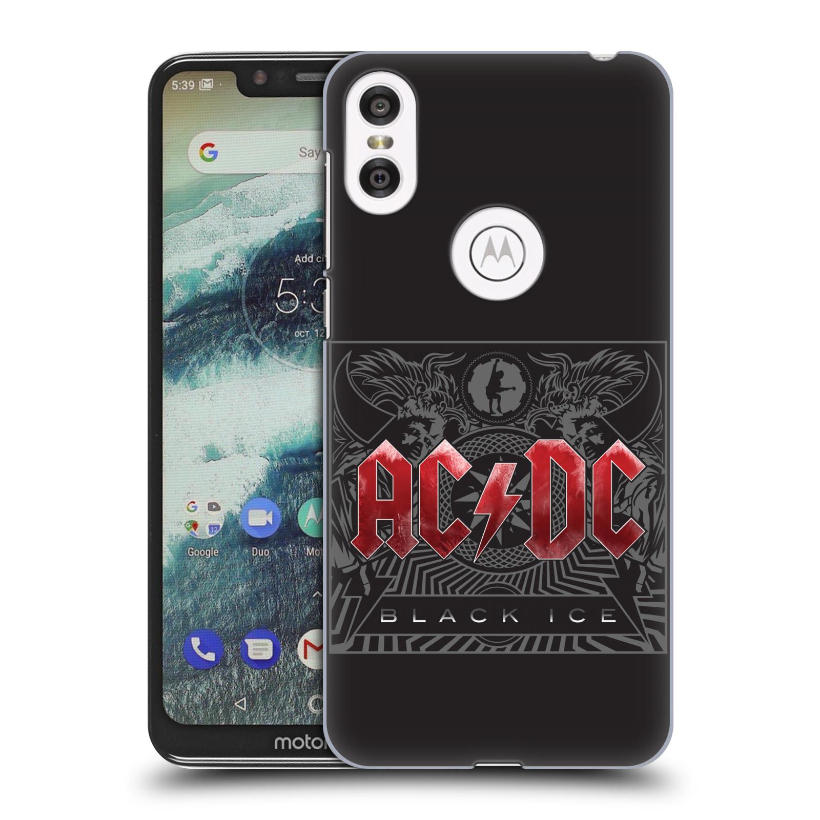 Plastové pouzdro na mobil Motorola One - Head Case - AC/DC Black Ice